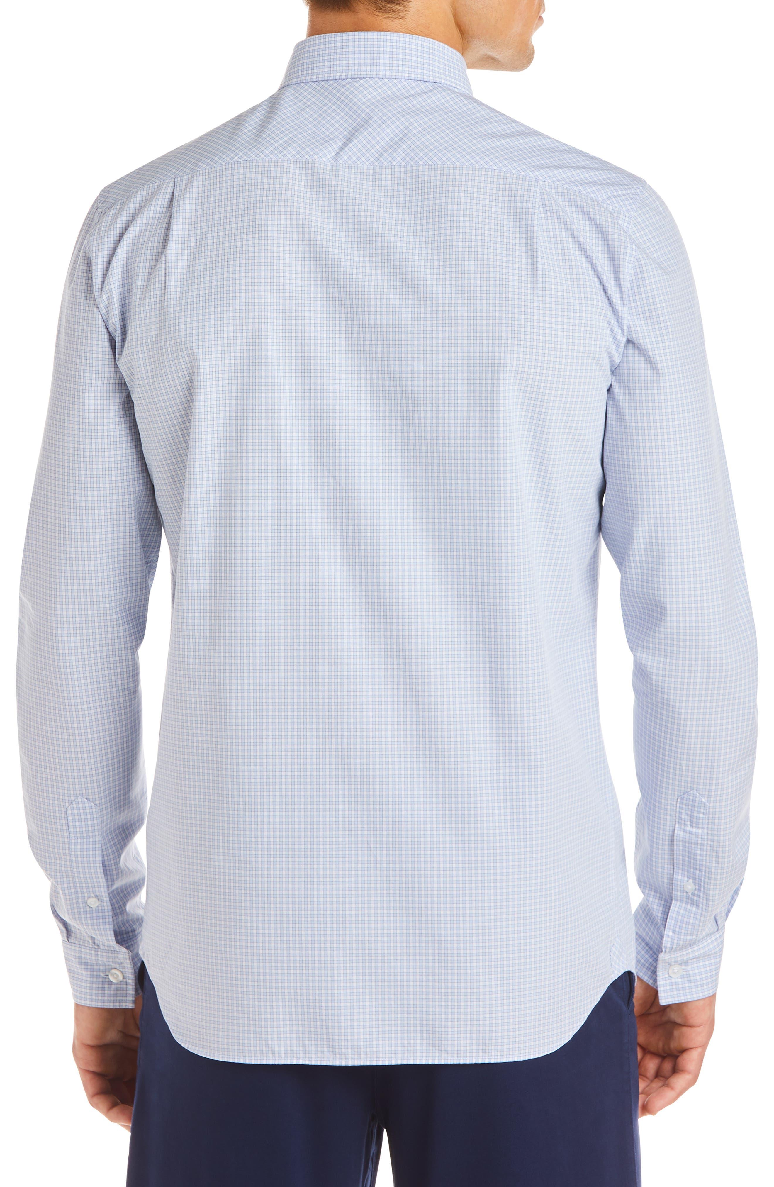 Regular Fit Check Sport Shirt,                             Alternate thumbnail 2, color,                             IODINE/ WHITE
