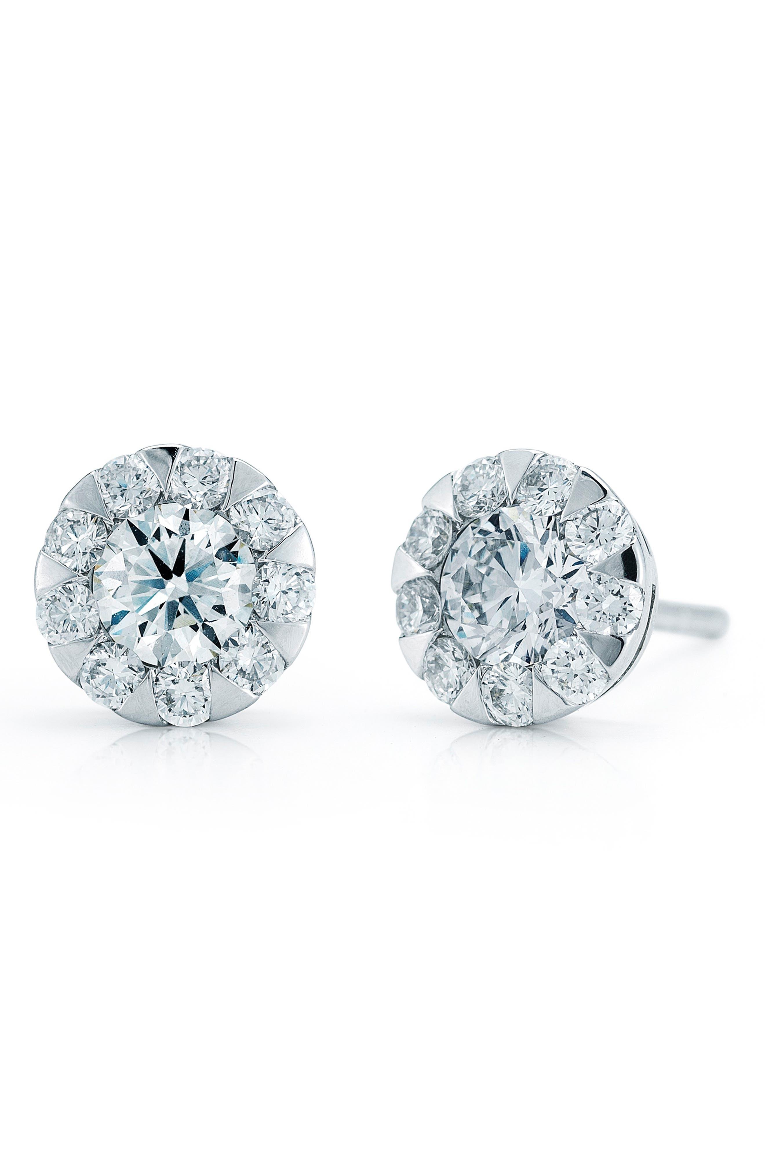 'Sunburst' Diamond Stud Earrings,                             Main thumbnail 1, color,                             710