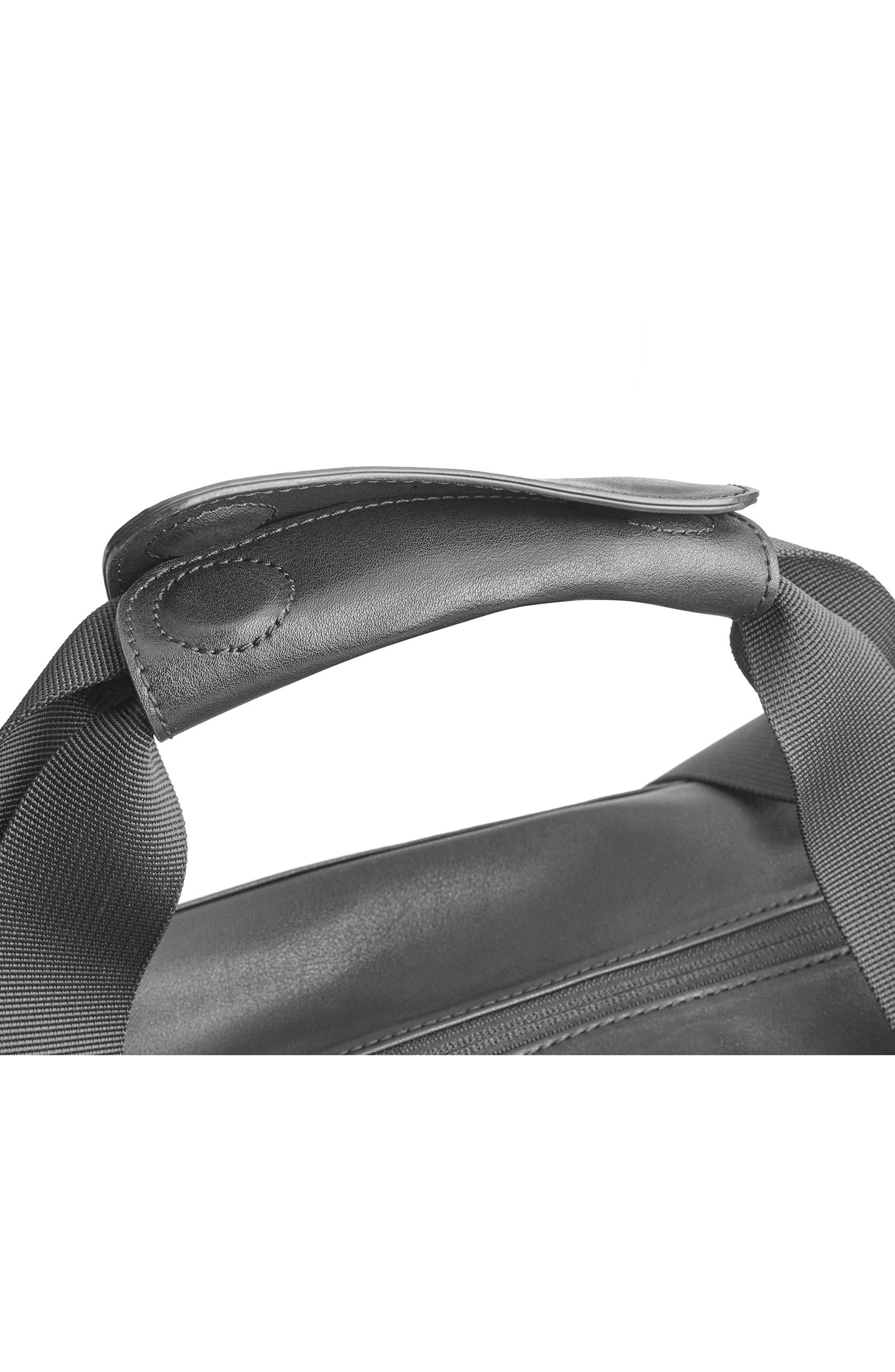 Classic Duffel Bag,                             Alternate thumbnail 4, color,                             BLACK