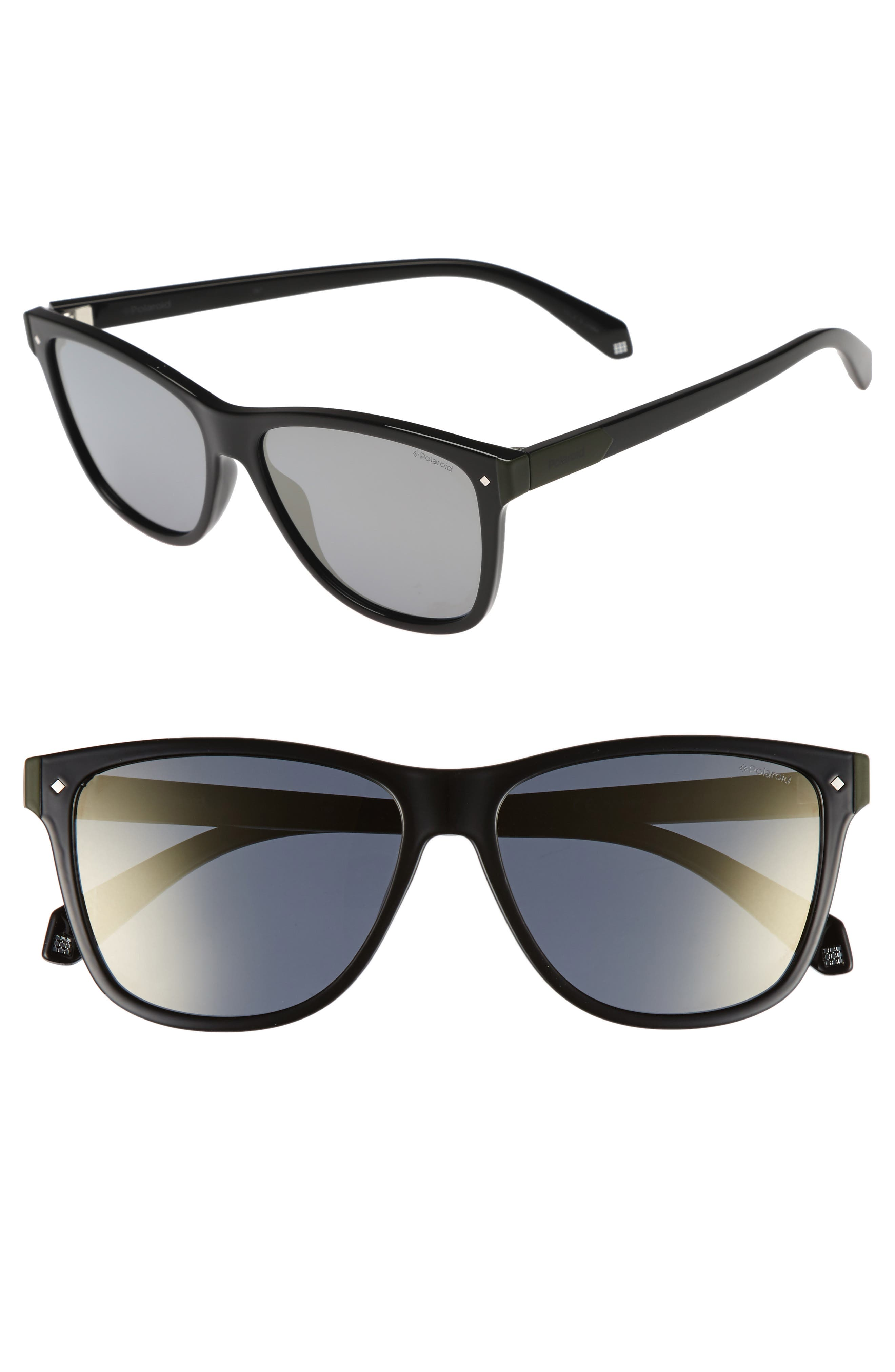 56mm Polarized Sunglasses,                         Main,                         color, 002