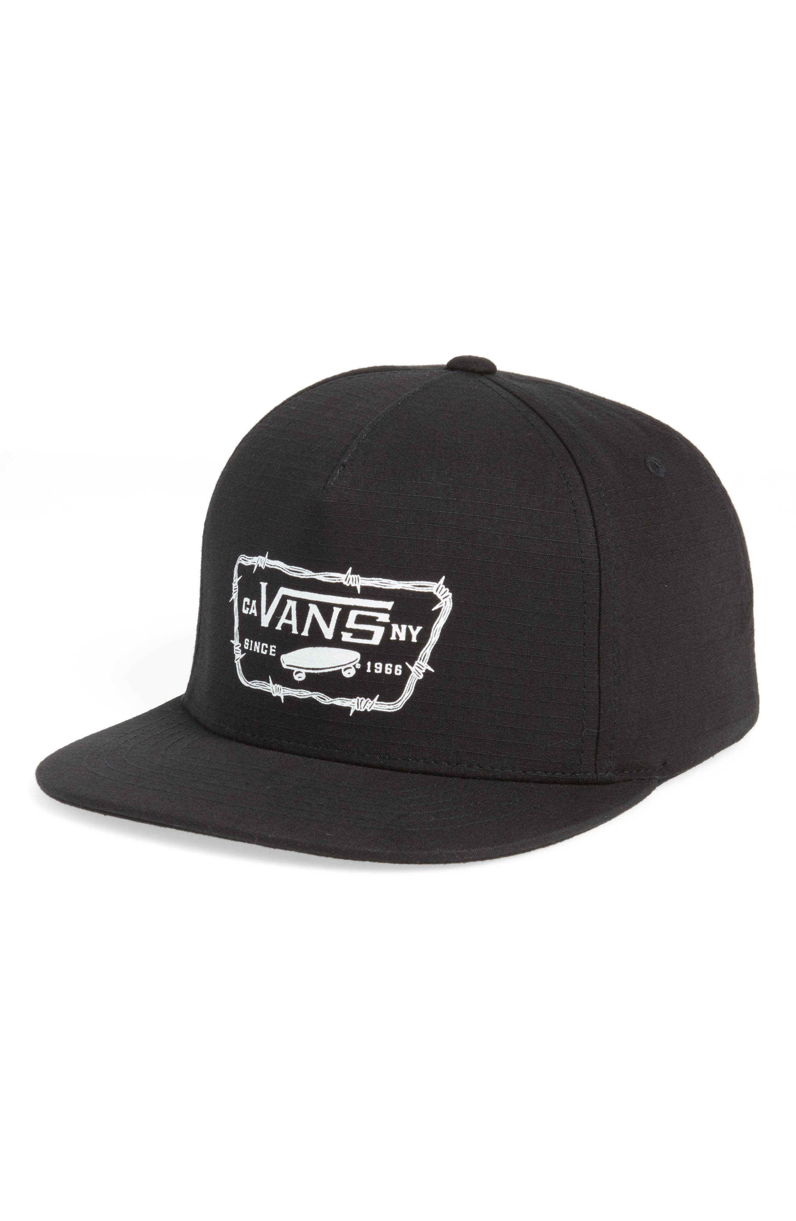 Full Patch Barbed Logo Cap,                         Main,                         color, 001