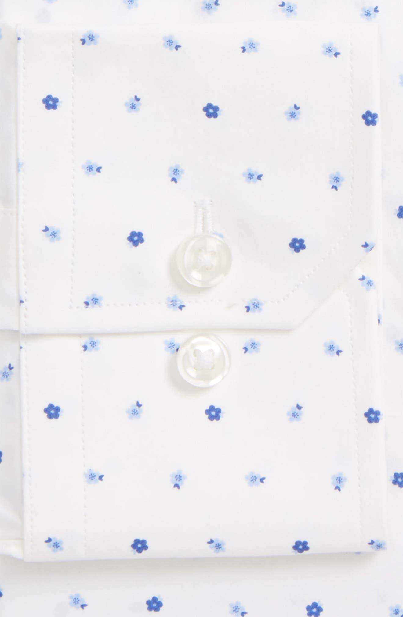 Trim Fit Floral Dress Shirt,                             Alternate thumbnail 2, color,                             420