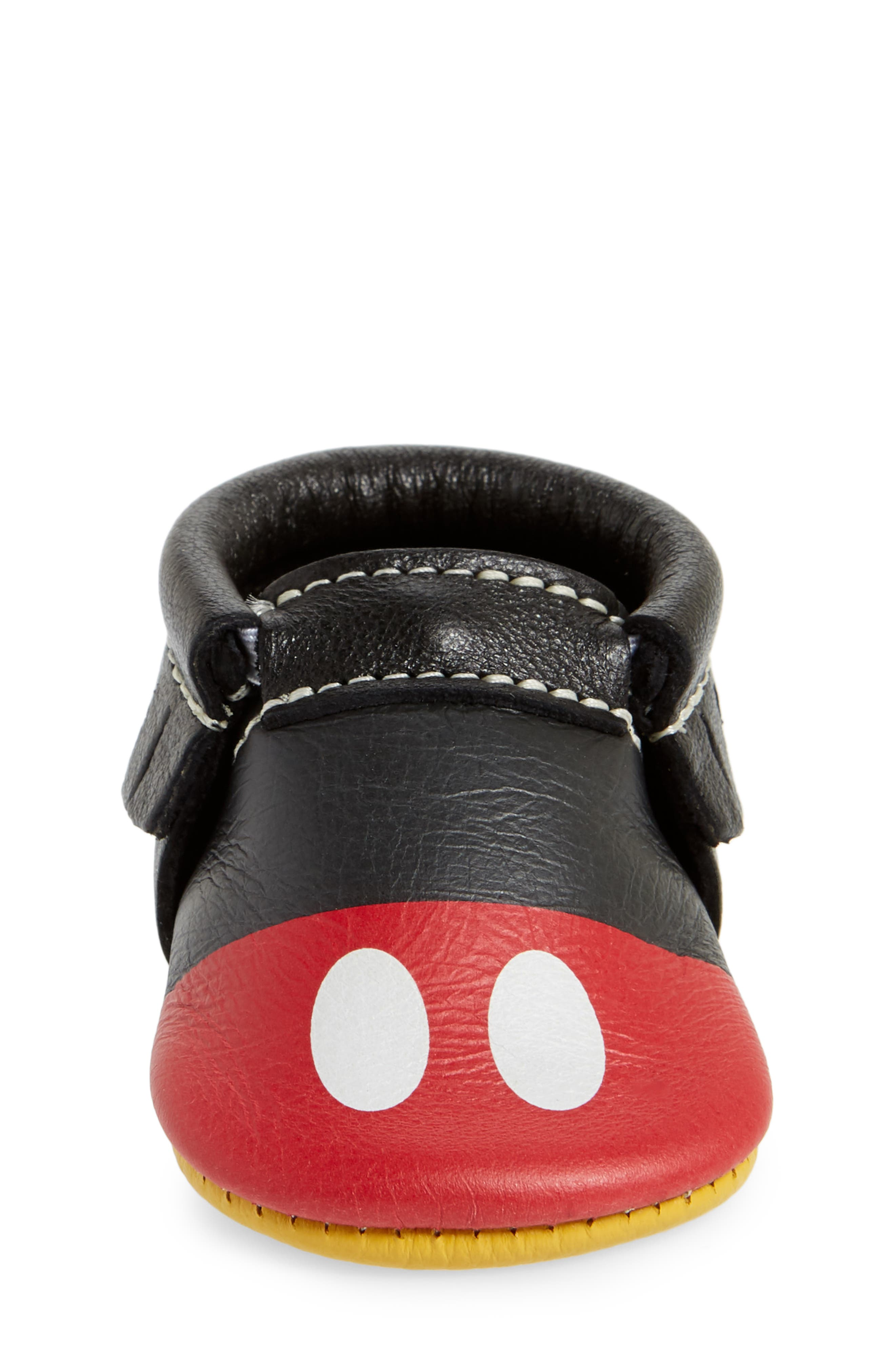 x Disney<sup>®</sup> Baby Mickey Mousee Crib Moccasin,                             Alternate thumbnail 4, color,                             001