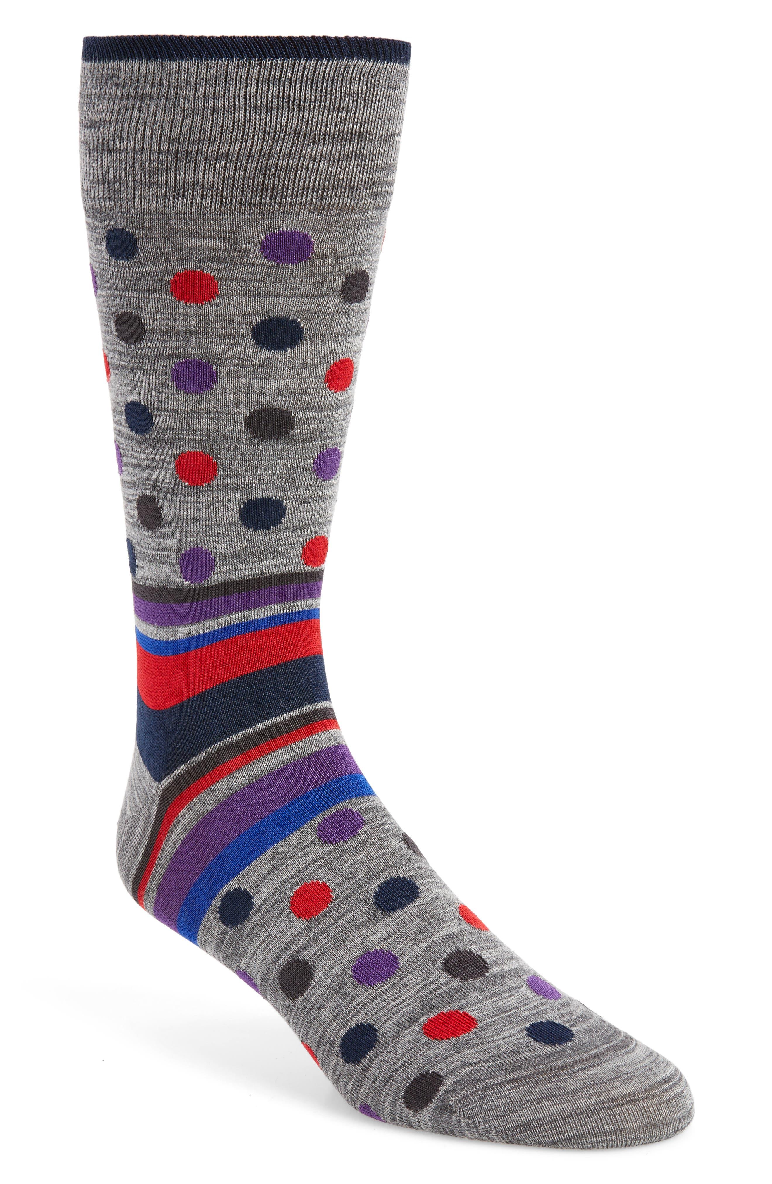 Dot & Stripe Socks,                             Main thumbnail 2, color,