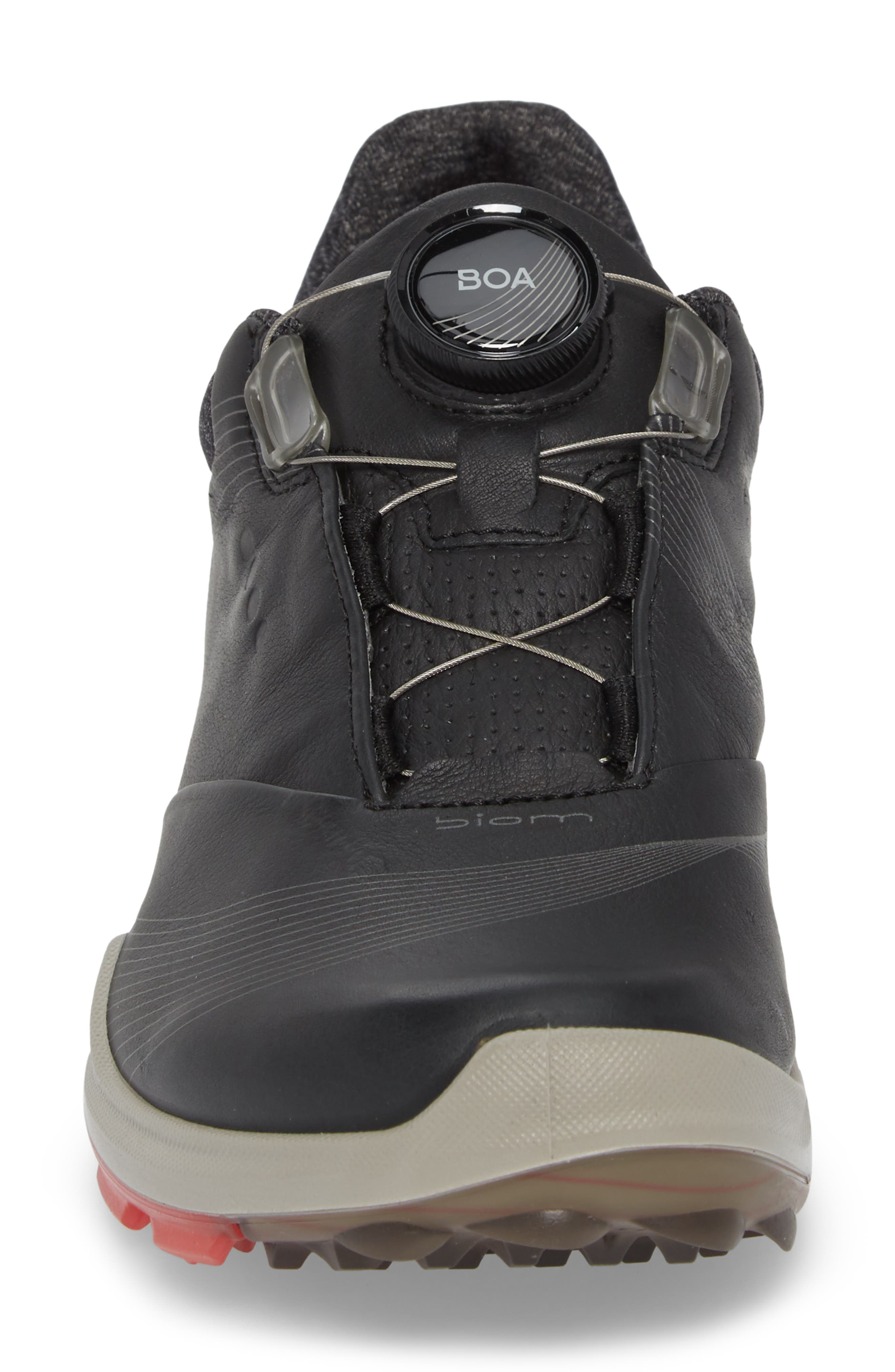BIOM 2 Hybrid Gore-Tex<sup>®</sup> Golf Shoe,                             Alternate thumbnail 4, color,                             BLACK LEATHER
