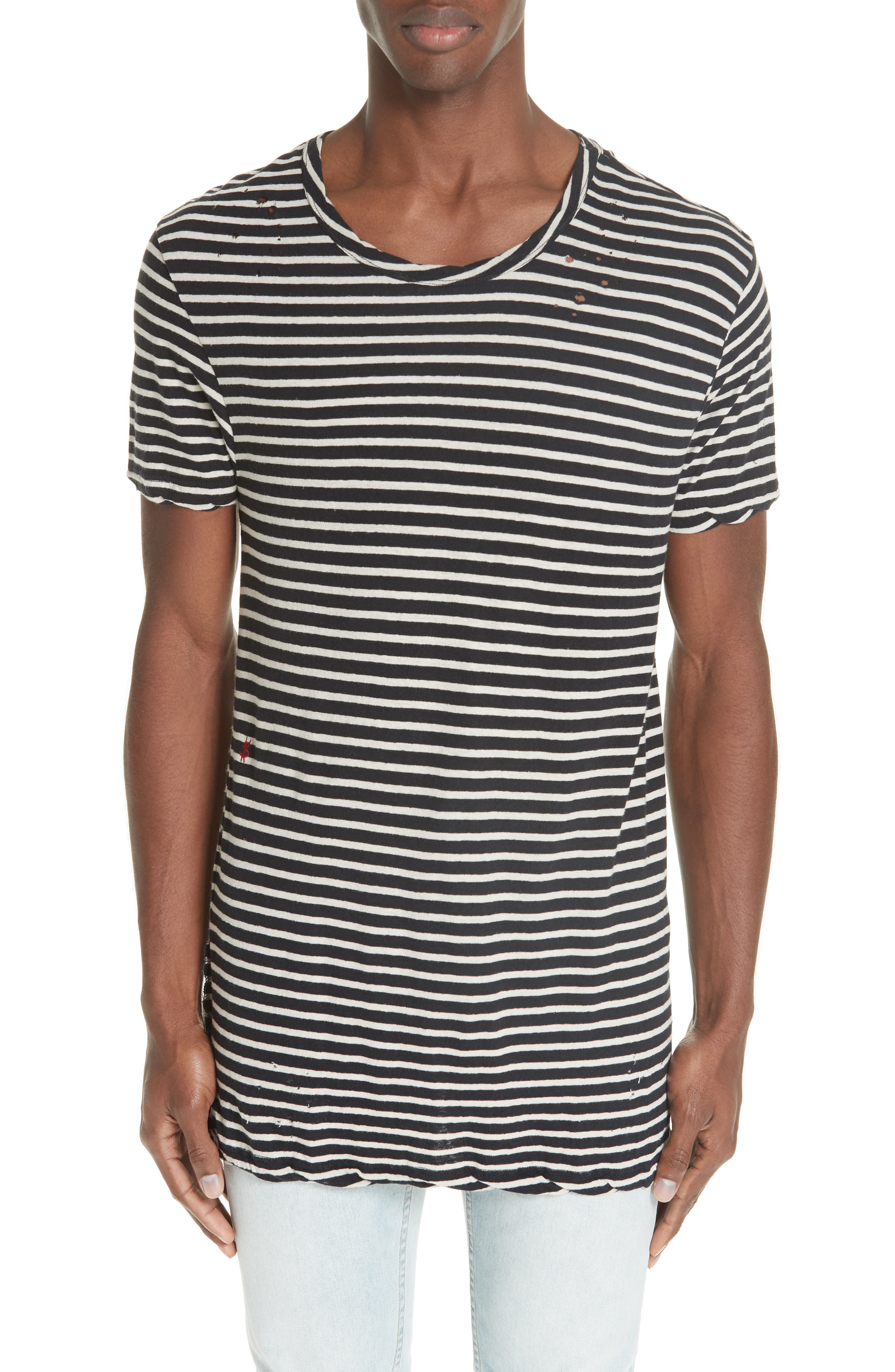 Sinister Distressed Stripe T-Shirt,                             Main thumbnail 1, color,                             960
