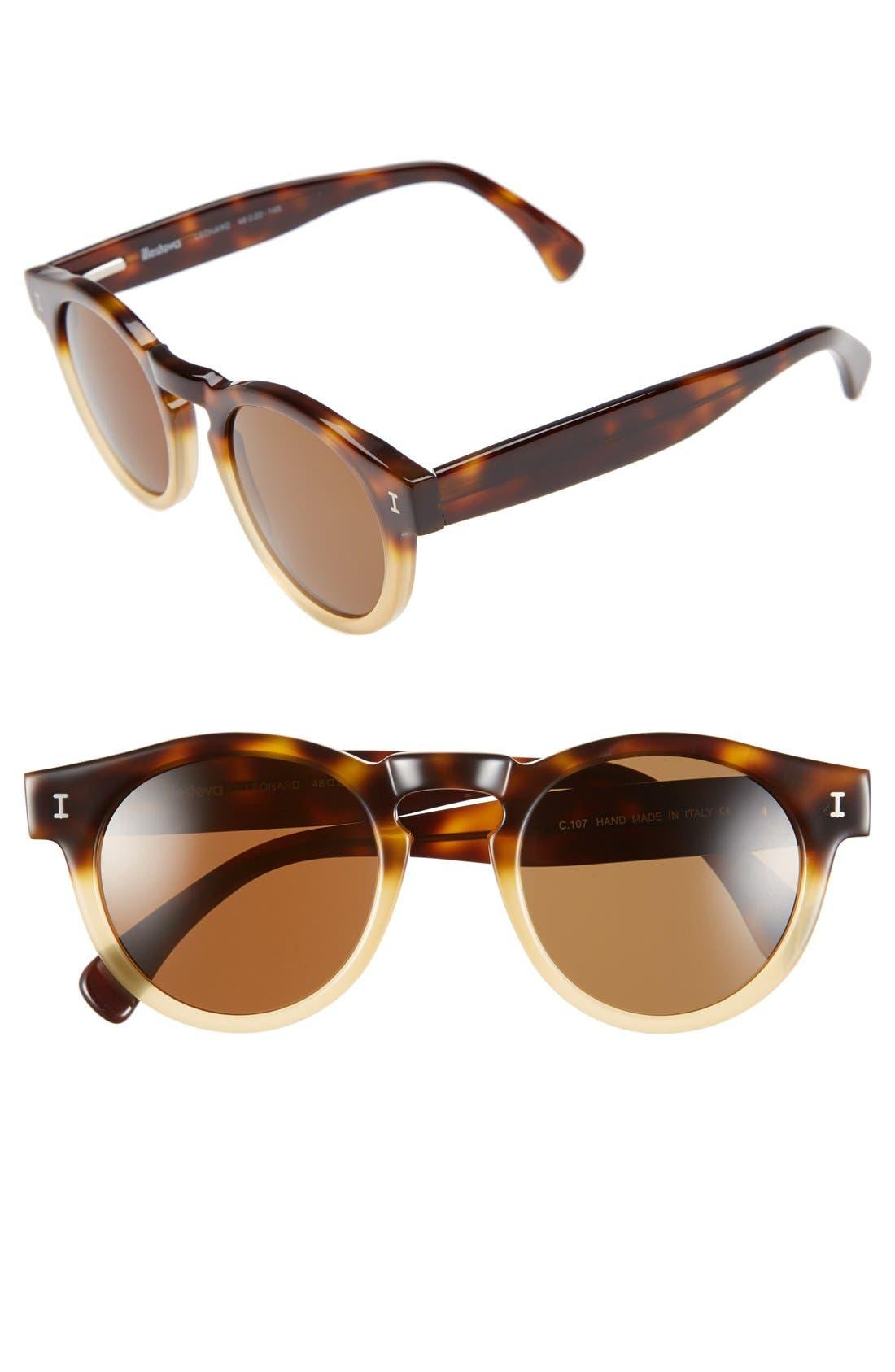 'Leonard' 47mm Sunglasses,                             Main thumbnail 58, color,