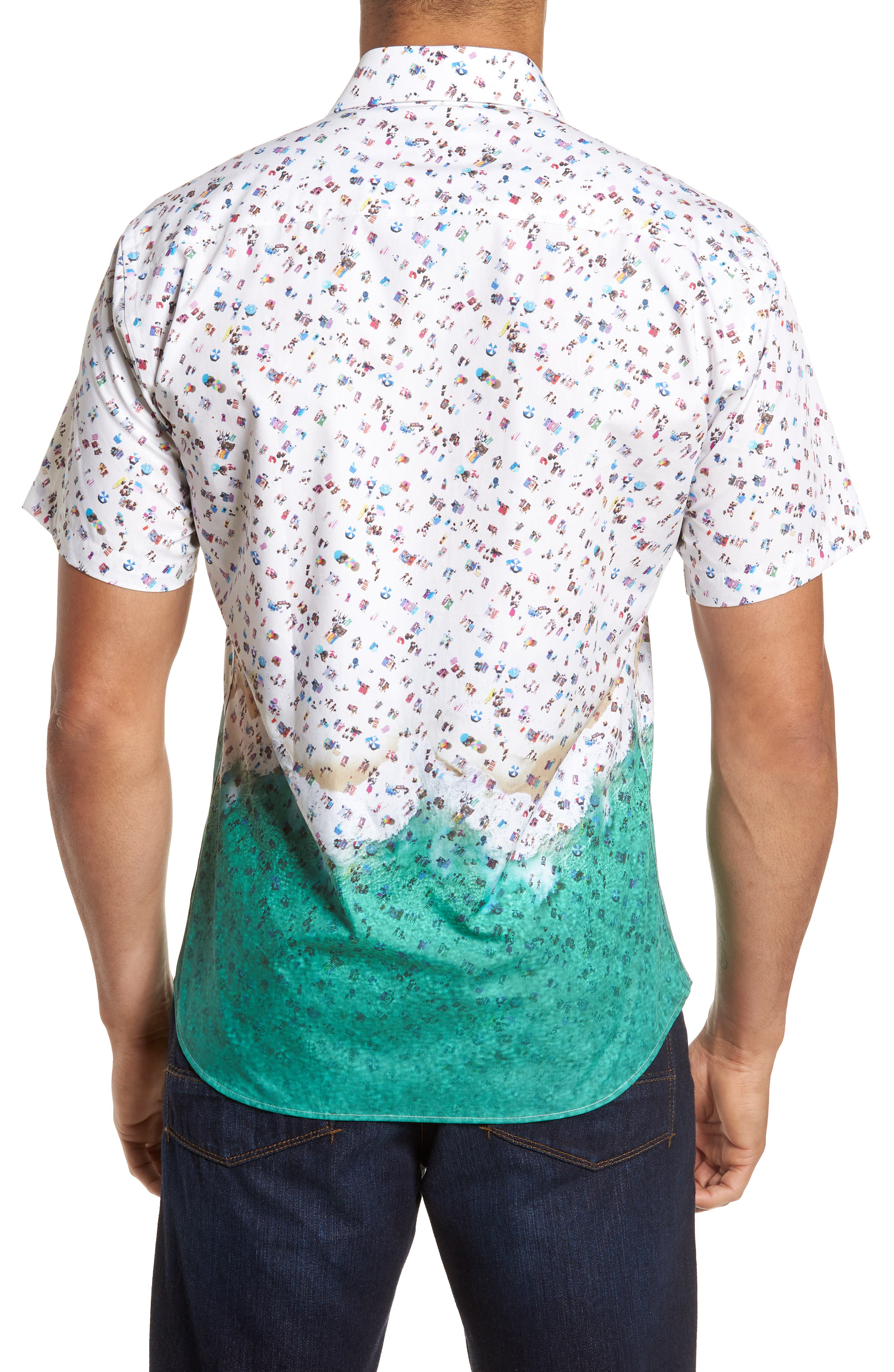 Slim Fit Beach Sport Shirt,                             Alternate thumbnail 2, color,                             990