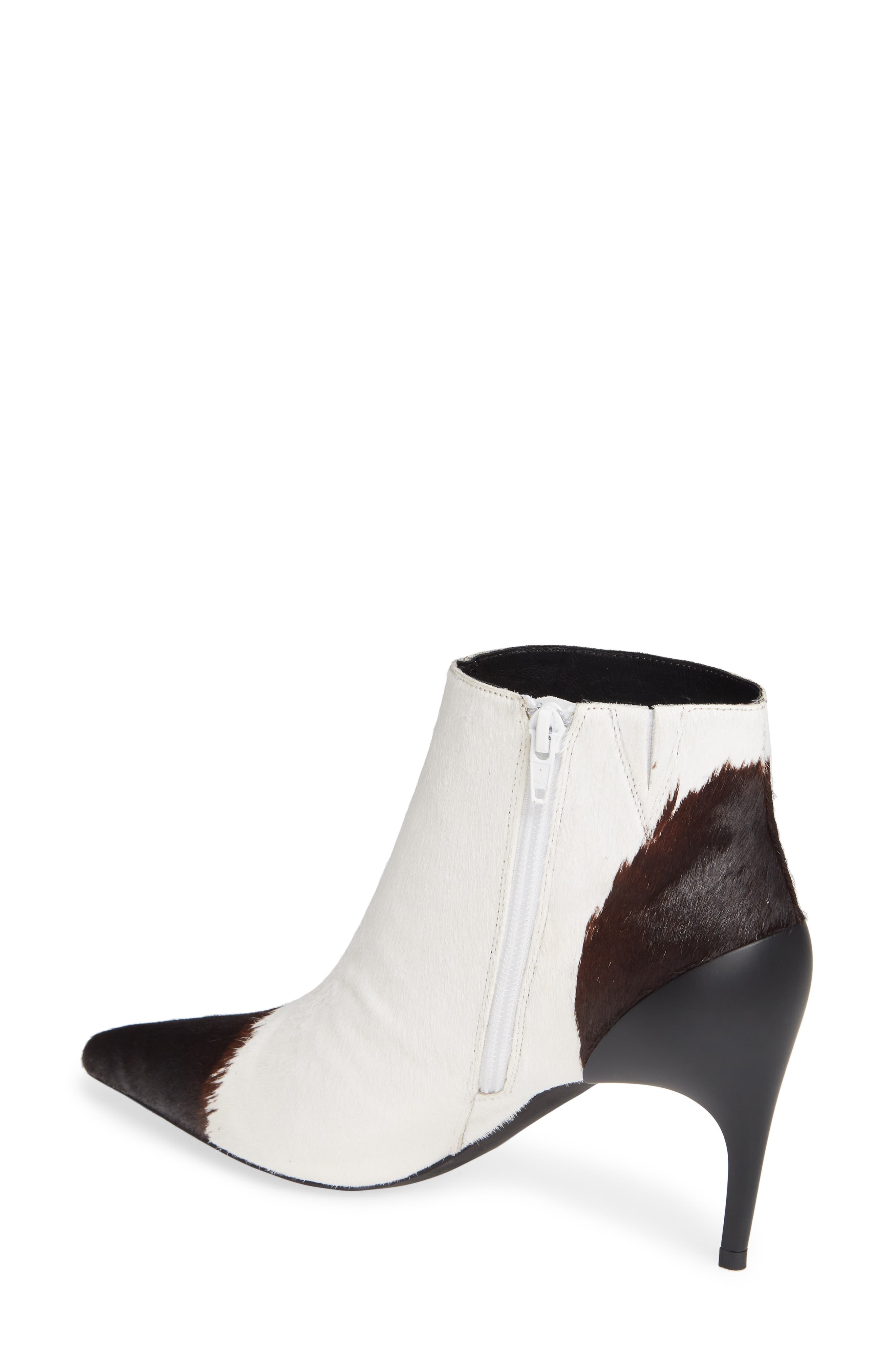 JEFFREY CAMPBELL,                             Barbell-F Genuine Calf Hair Bootie,                             Alternate thumbnail 2, color,                             001
