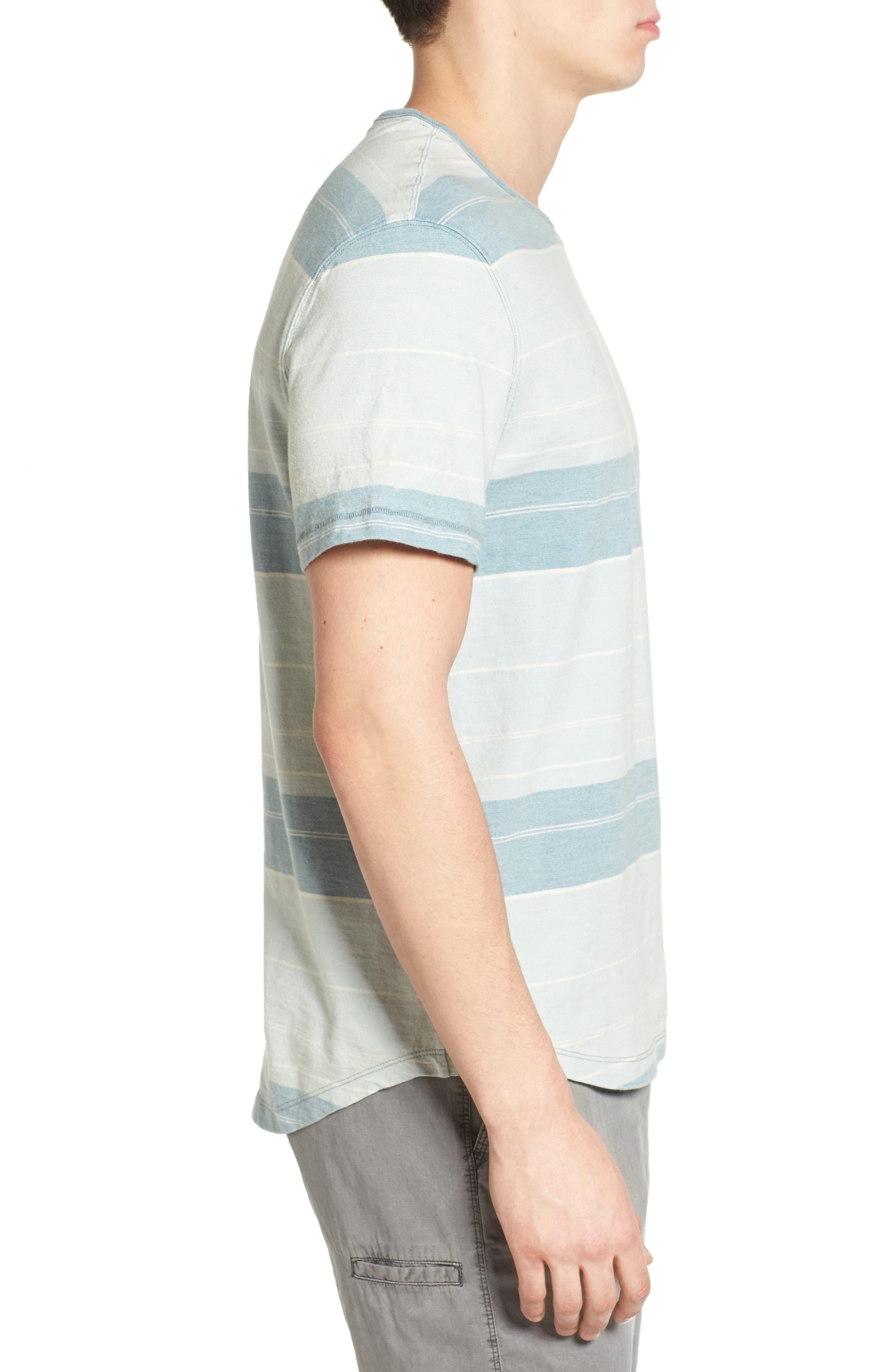 Tully Indigo Stripe T-Shirt,                             Alternate thumbnail 3, color,                             458