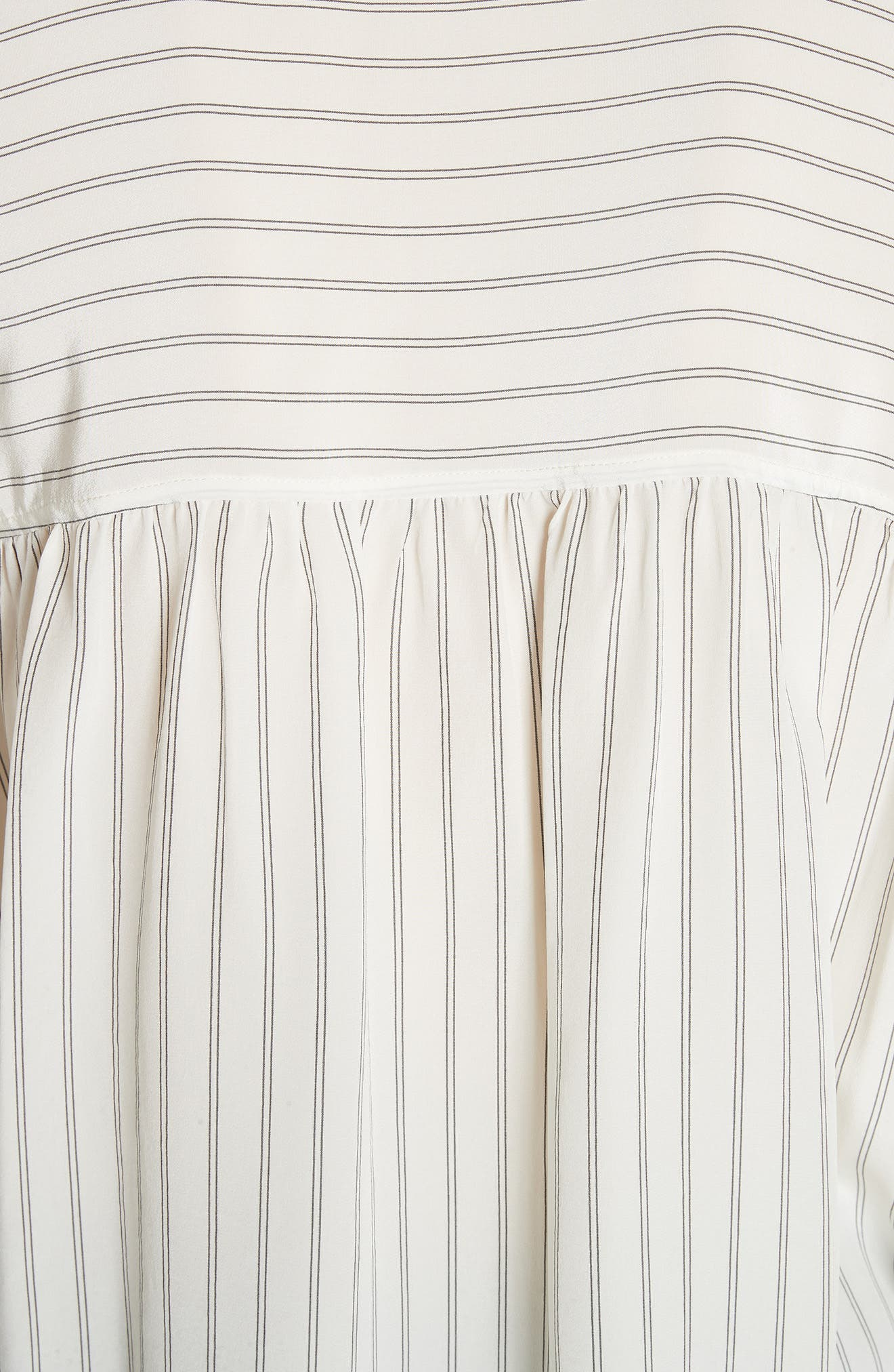 Double Stripe Silk Pullover,                             Alternate thumbnail 5, color,                             908