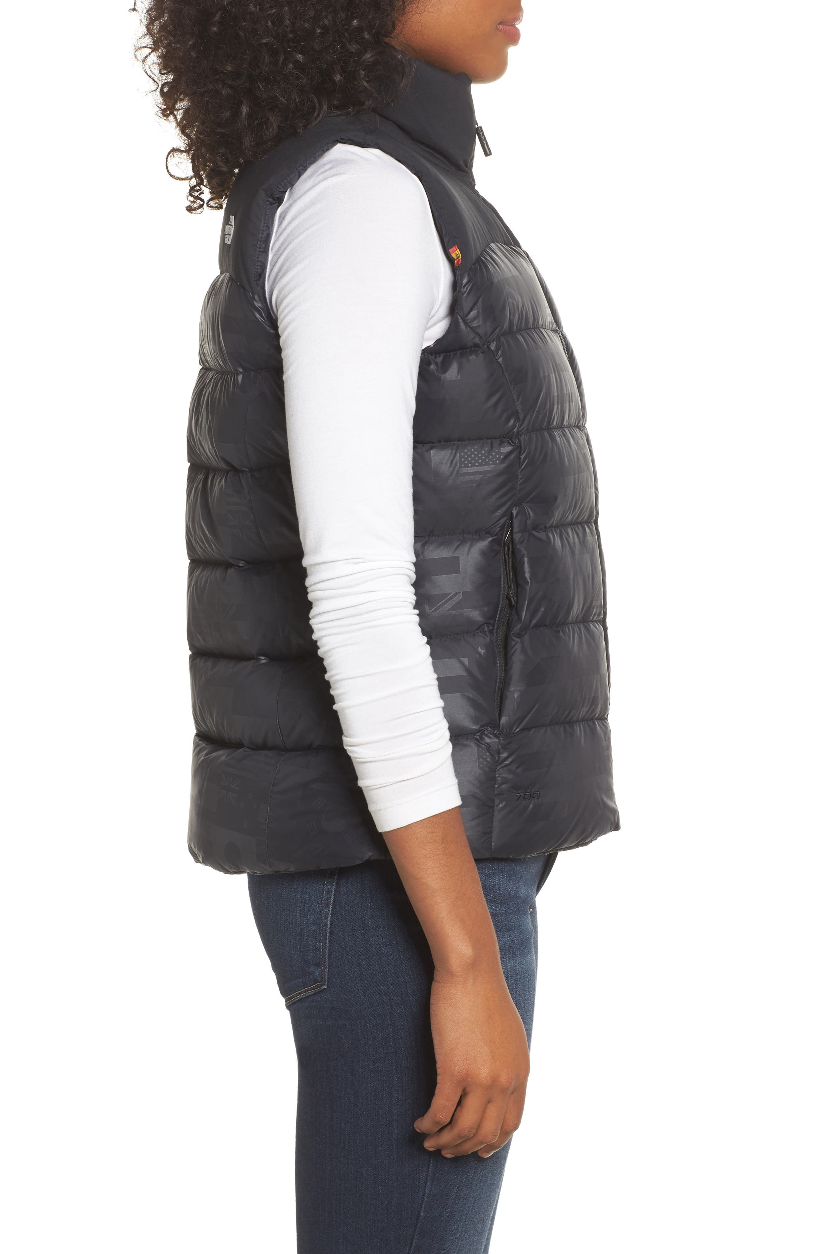 International Collection Nuptse 700-Fill Power Down Puffer Vest,                             Alternate thumbnail 3, color,                             001
