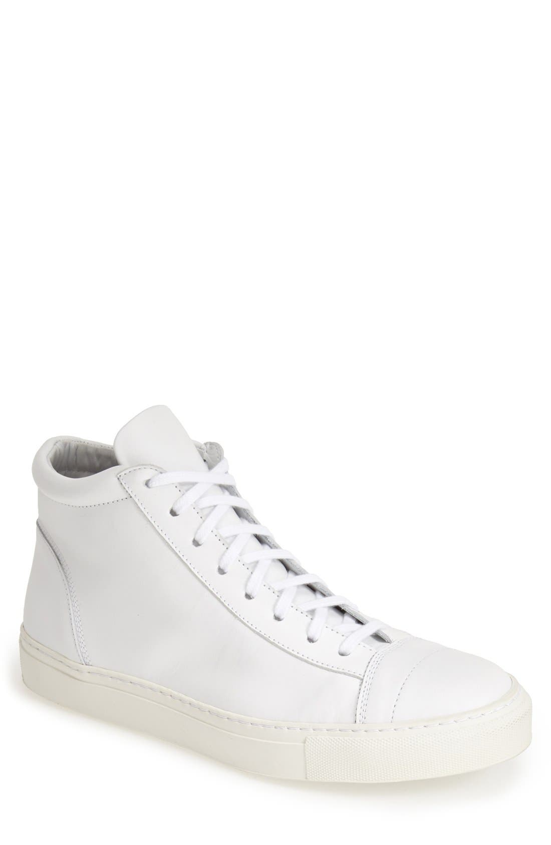 'Jorge' Leather Sneaker,                             Main thumbnail 1, color,                             100