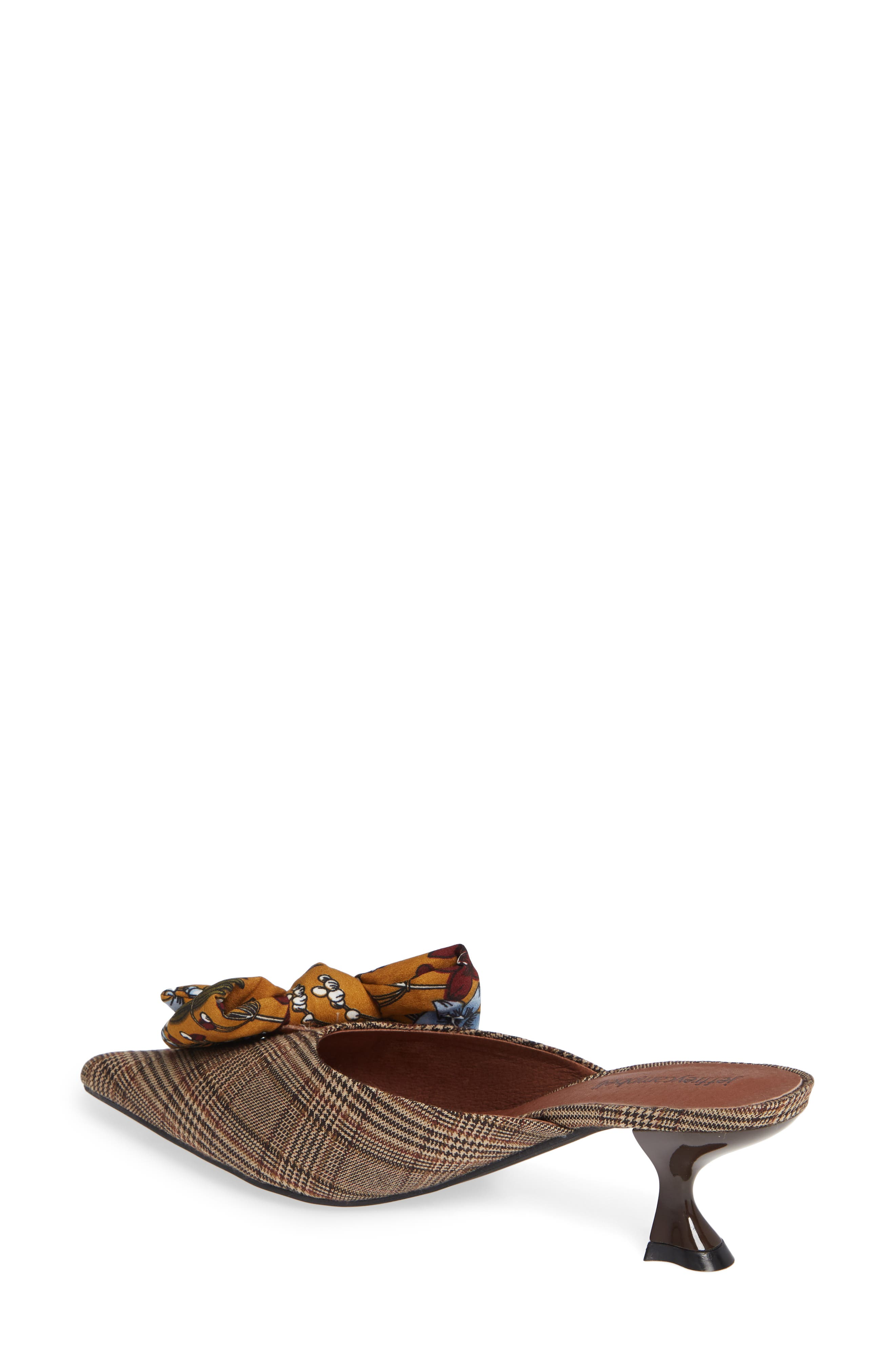 Adorn Pointy Toe Mule,                             Alternate thumbnail 2, color,                             MUSTARD/ NAVY FLORAL MULTI