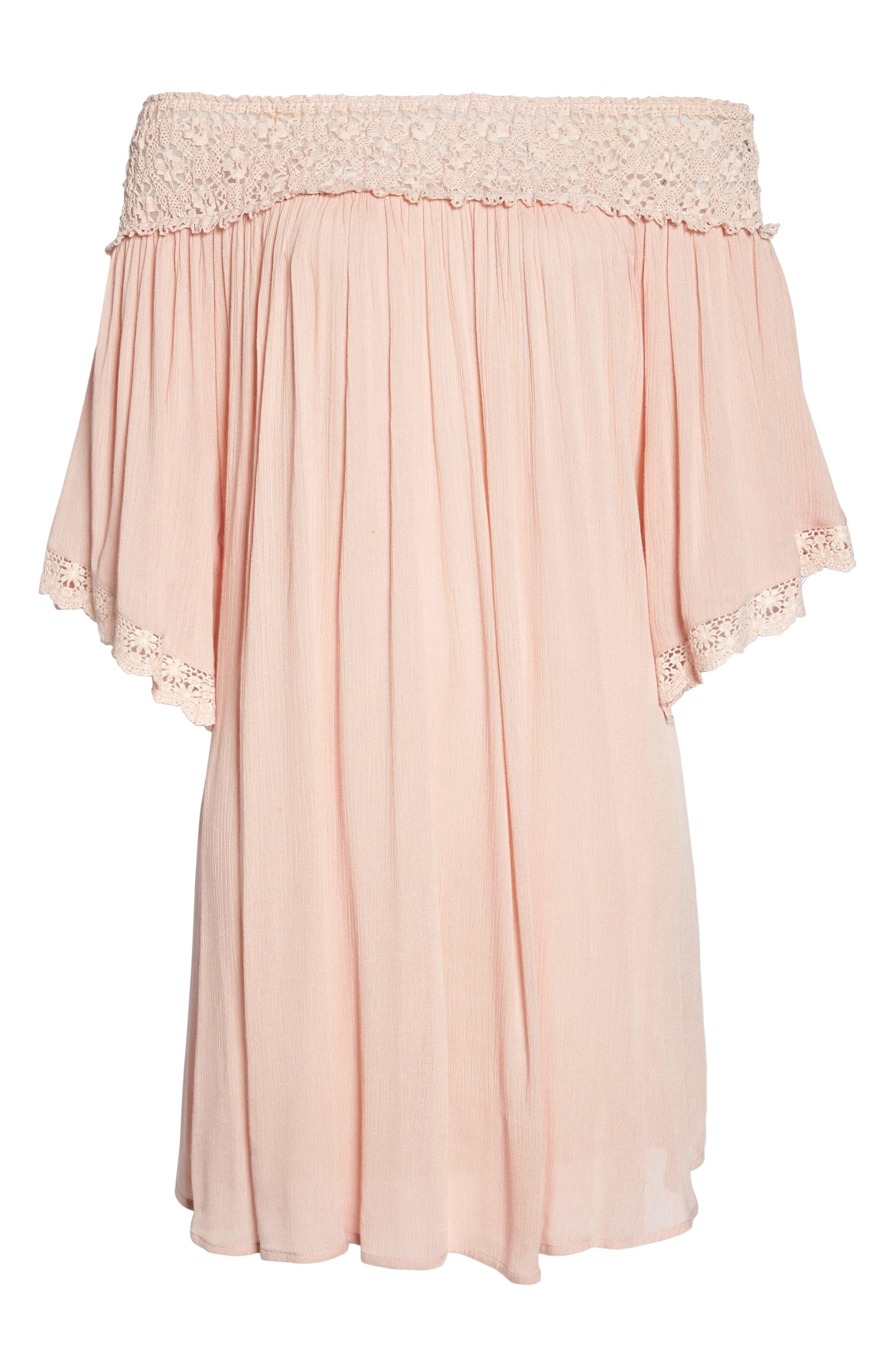 Rimini Crochet Cover-Up Dress,                             Alternate thumbnail 12, color,