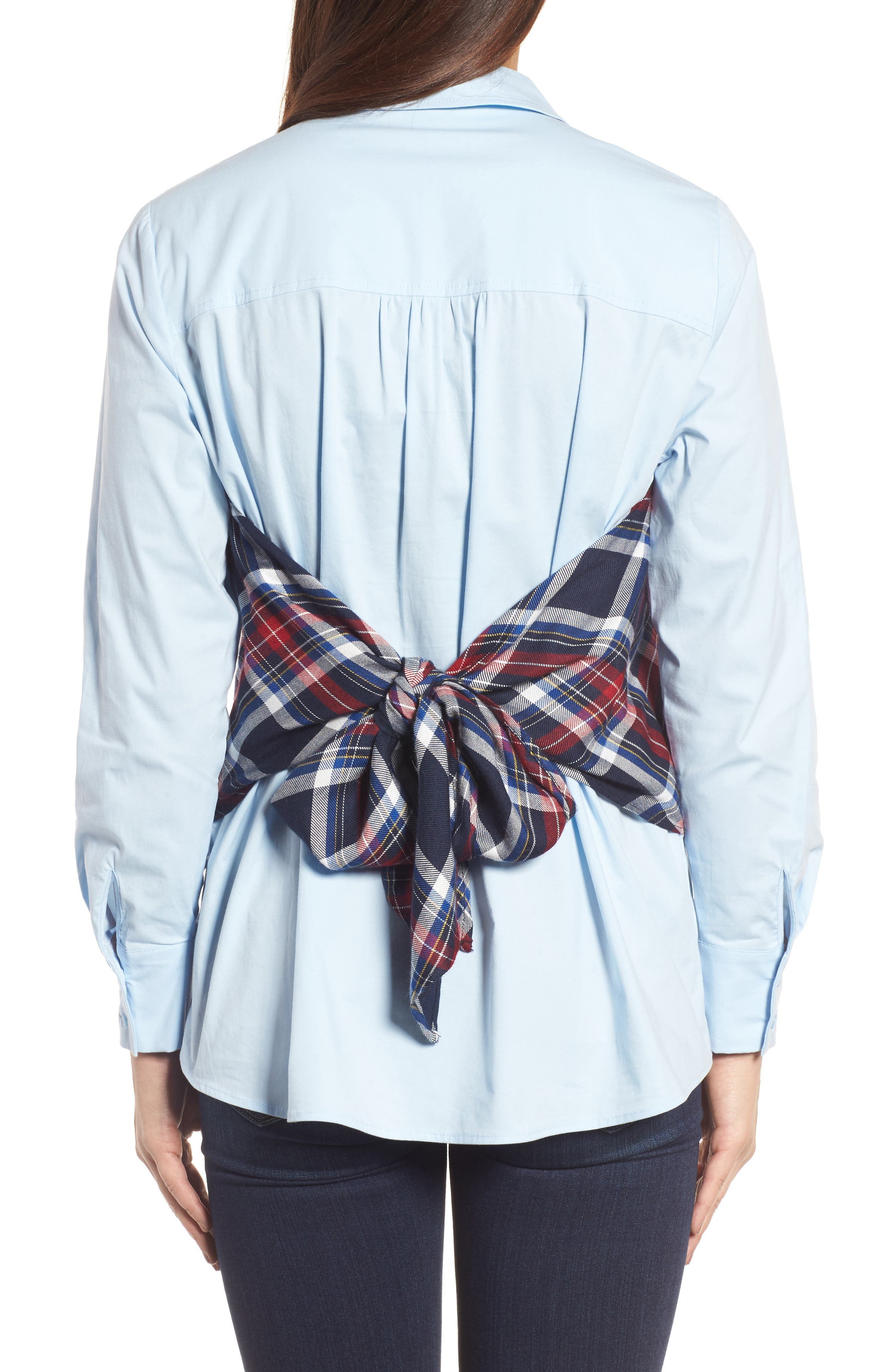 Plaid Corset Shirt,                             Alternate thumbnail 5, color,