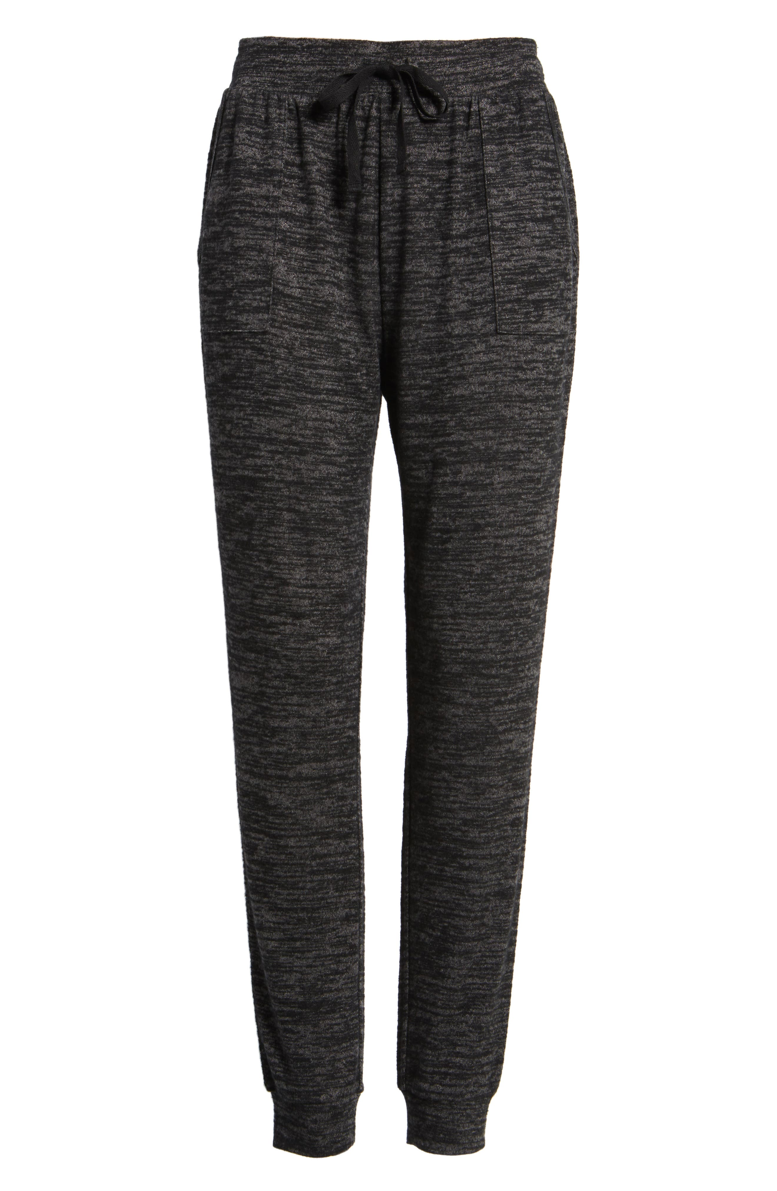 Stretch Knit Joggers,                             Alternate thumbnail 6, color,                             001