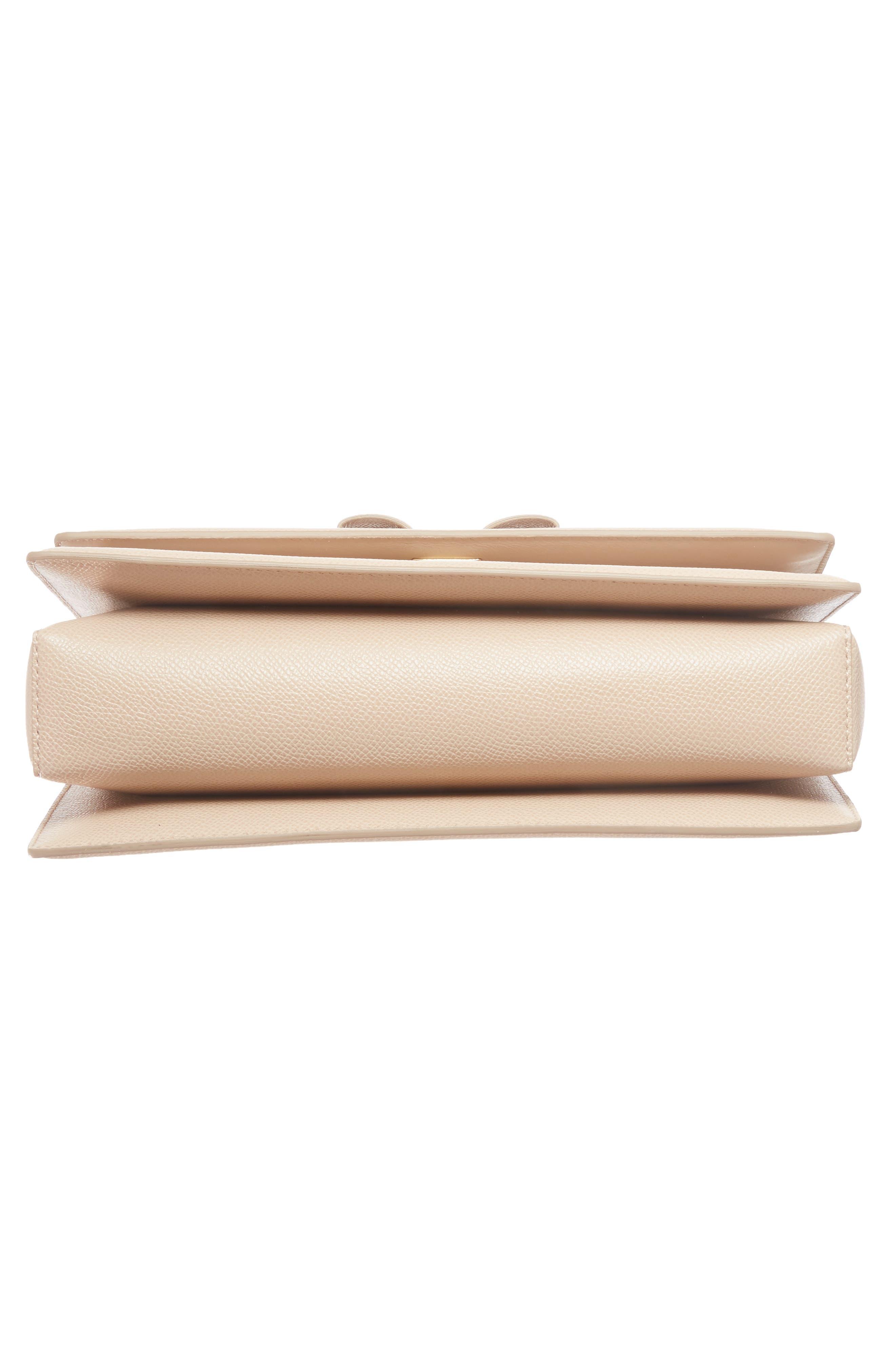 Medium Leather Shoulder Bag,                             Alternate thumbnail 6, color,