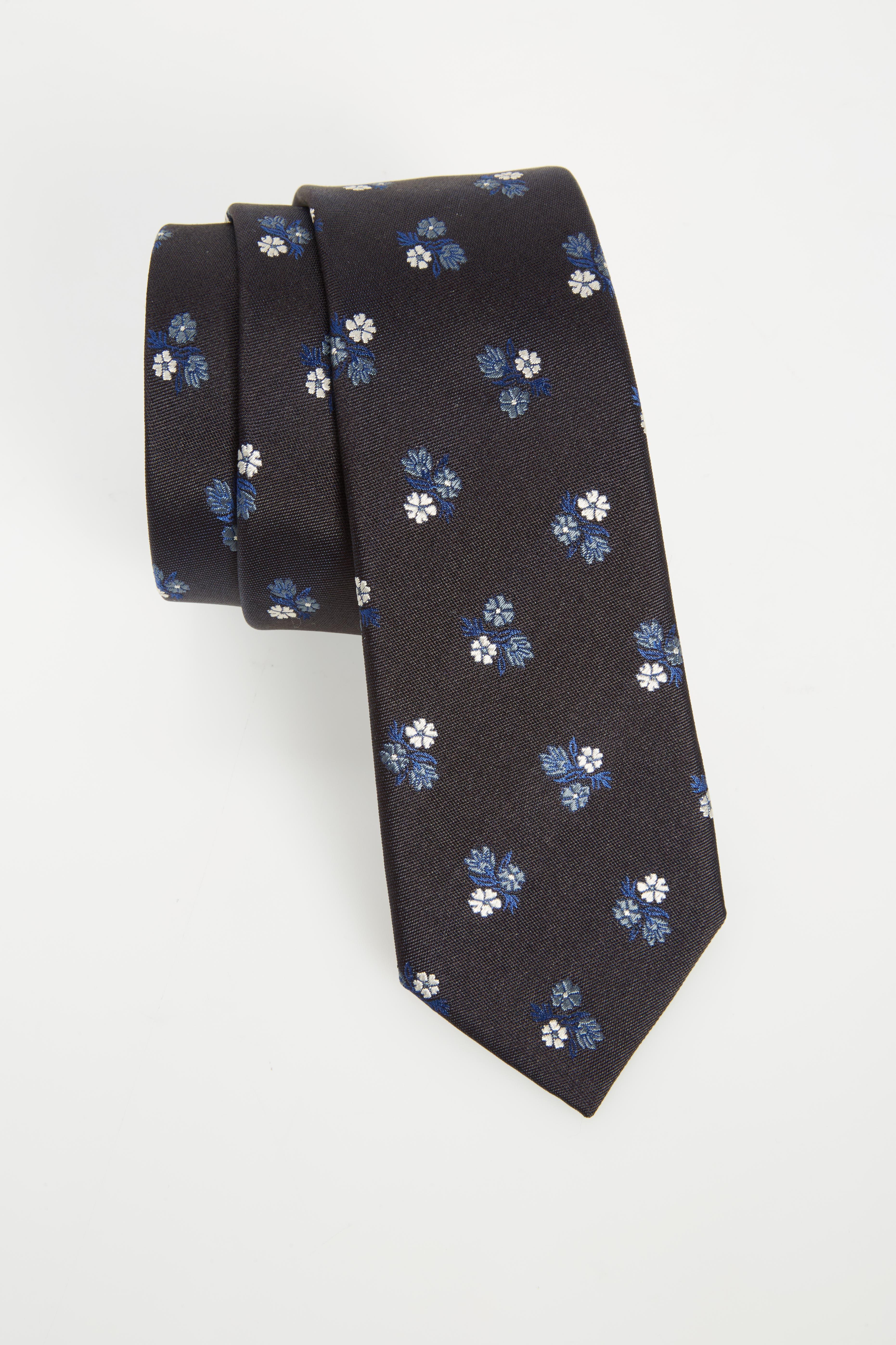 Floral Silk Skinny Tie,                         Main,                         color, 415
