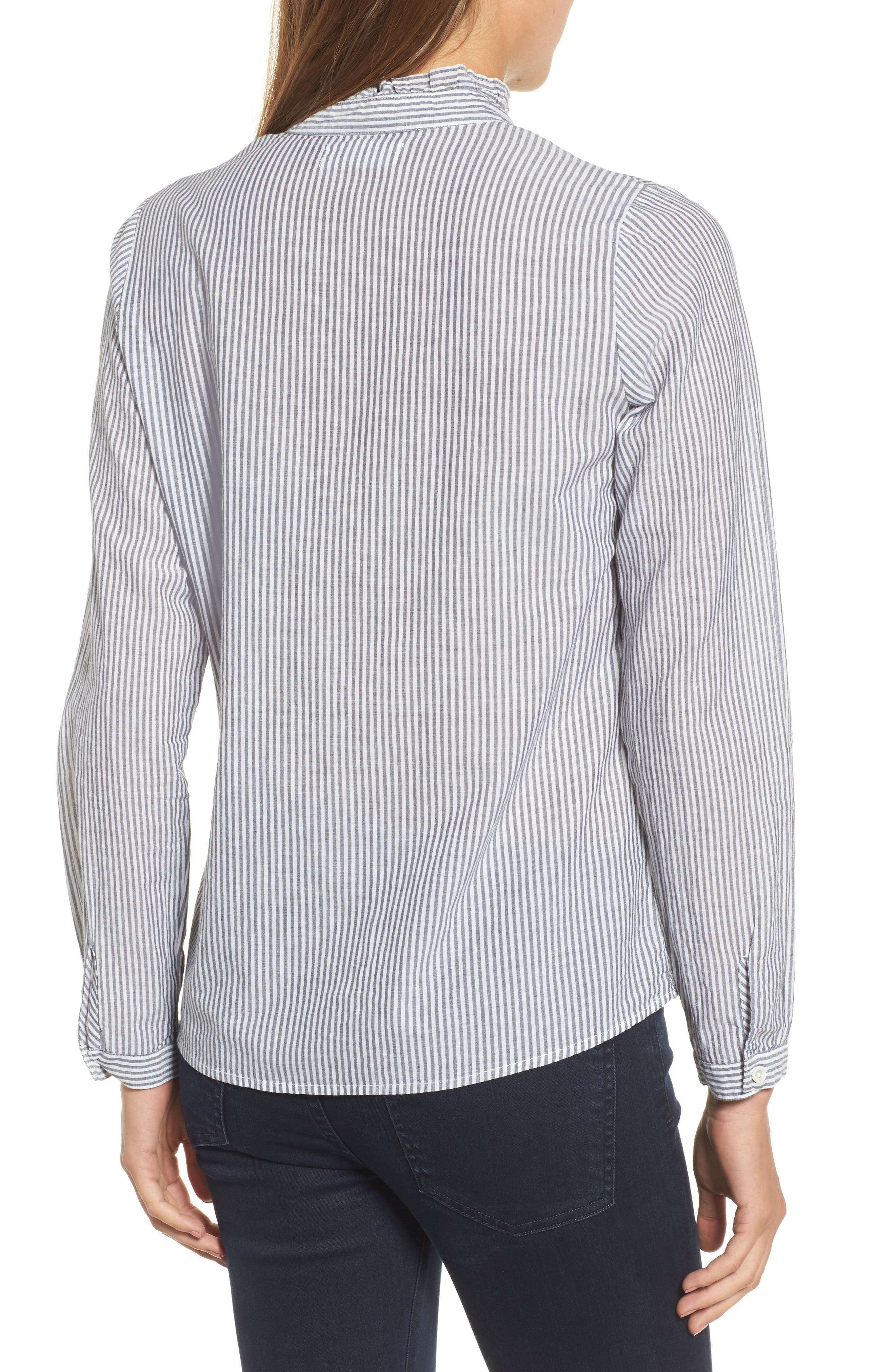 Velvet Embroidered Stripe Shirt,                             Alternate thumbnail 2, color,                             960