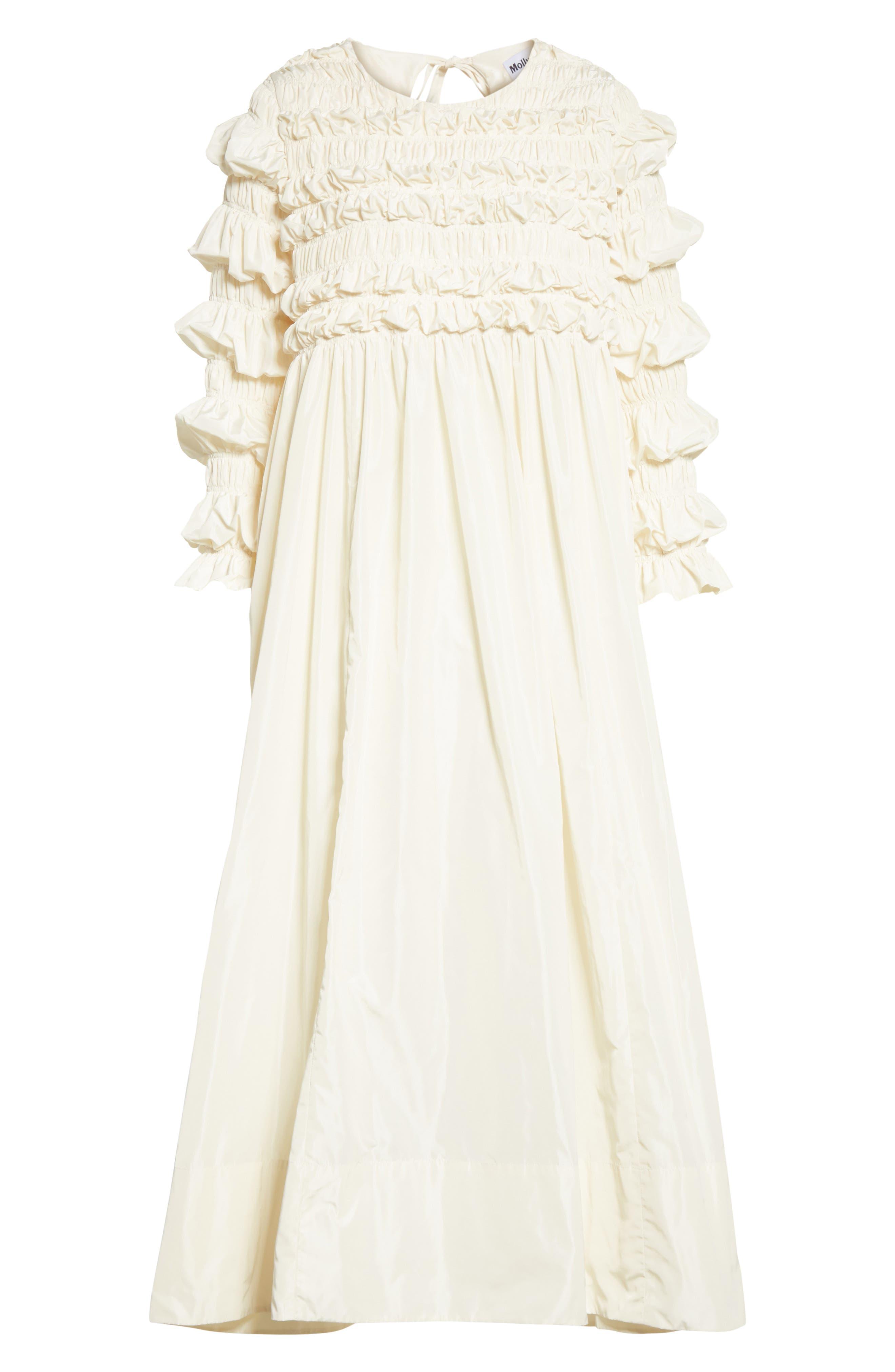 Lizzie Ruffled Taffeta Dress,                             Alternate thumbnail 6, color,                             900