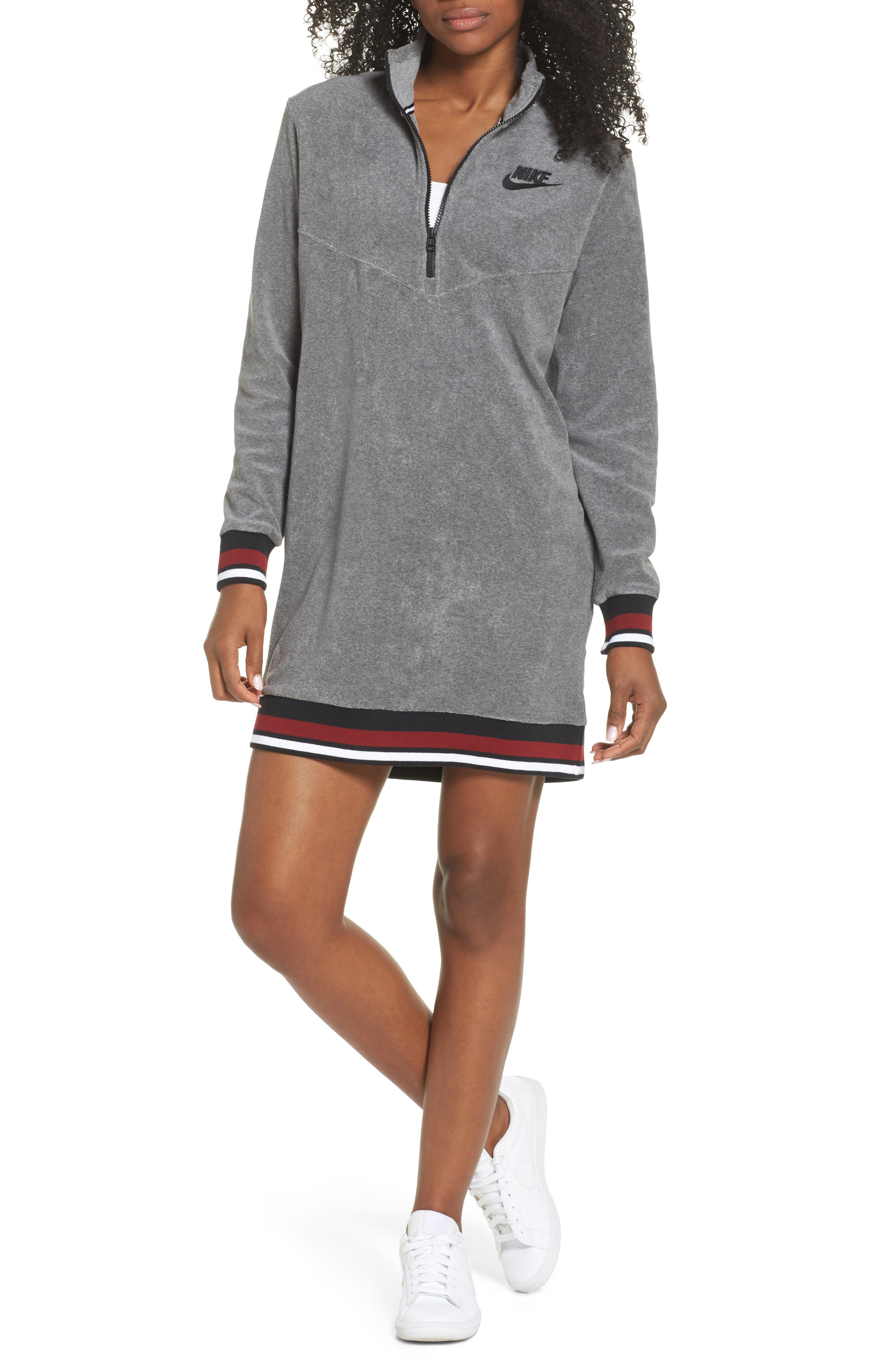 Sportswear French Terry Sweatshirt Dress,                         Main,                         color, 020