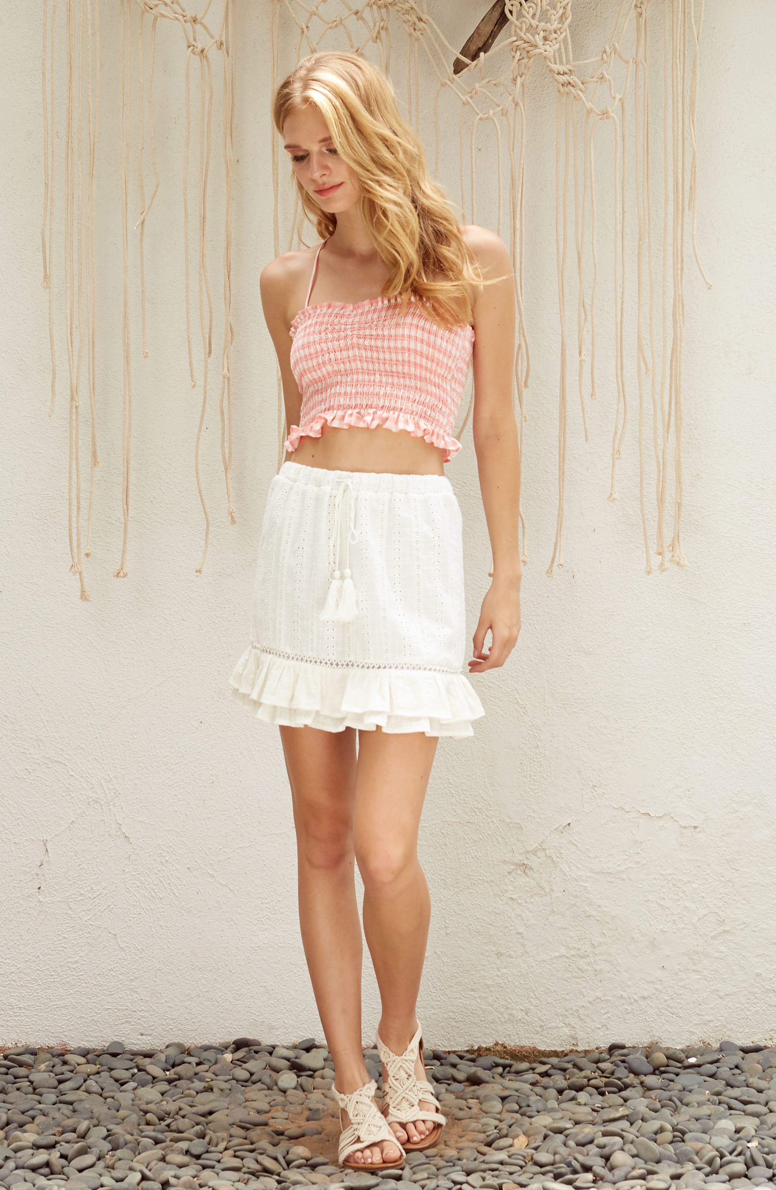 Daisy Ruffle Miniskirt,                             Alternate thumbnail 10, color,