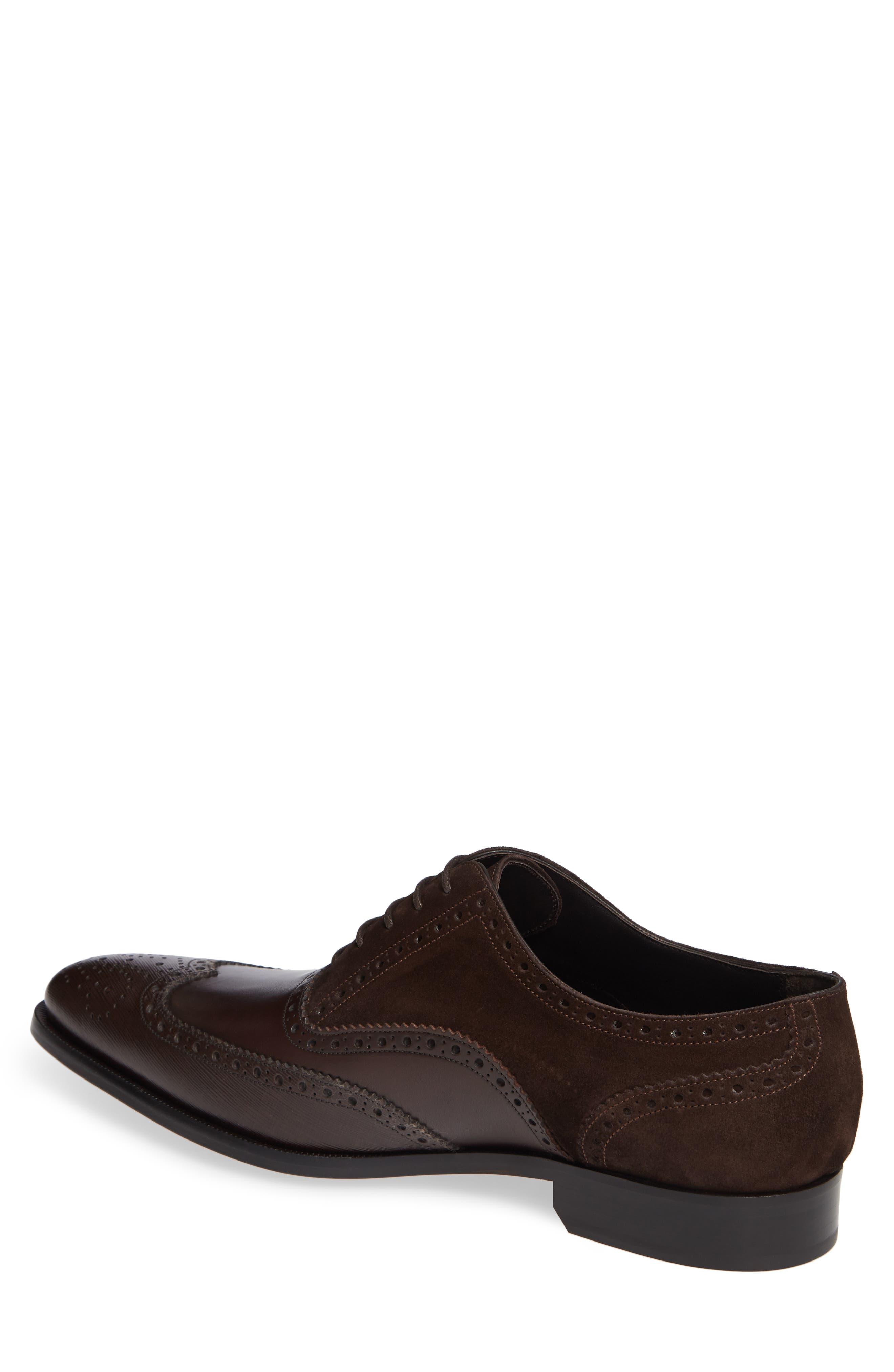 Cologne Wingtip,                             Alternate thumbnail 2, color,                             BROWN SUEDE/ LEATHER