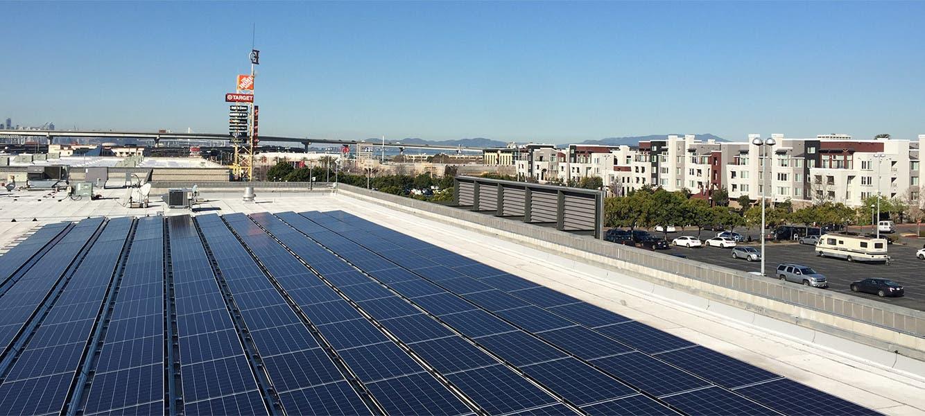 Solar-powered energy.