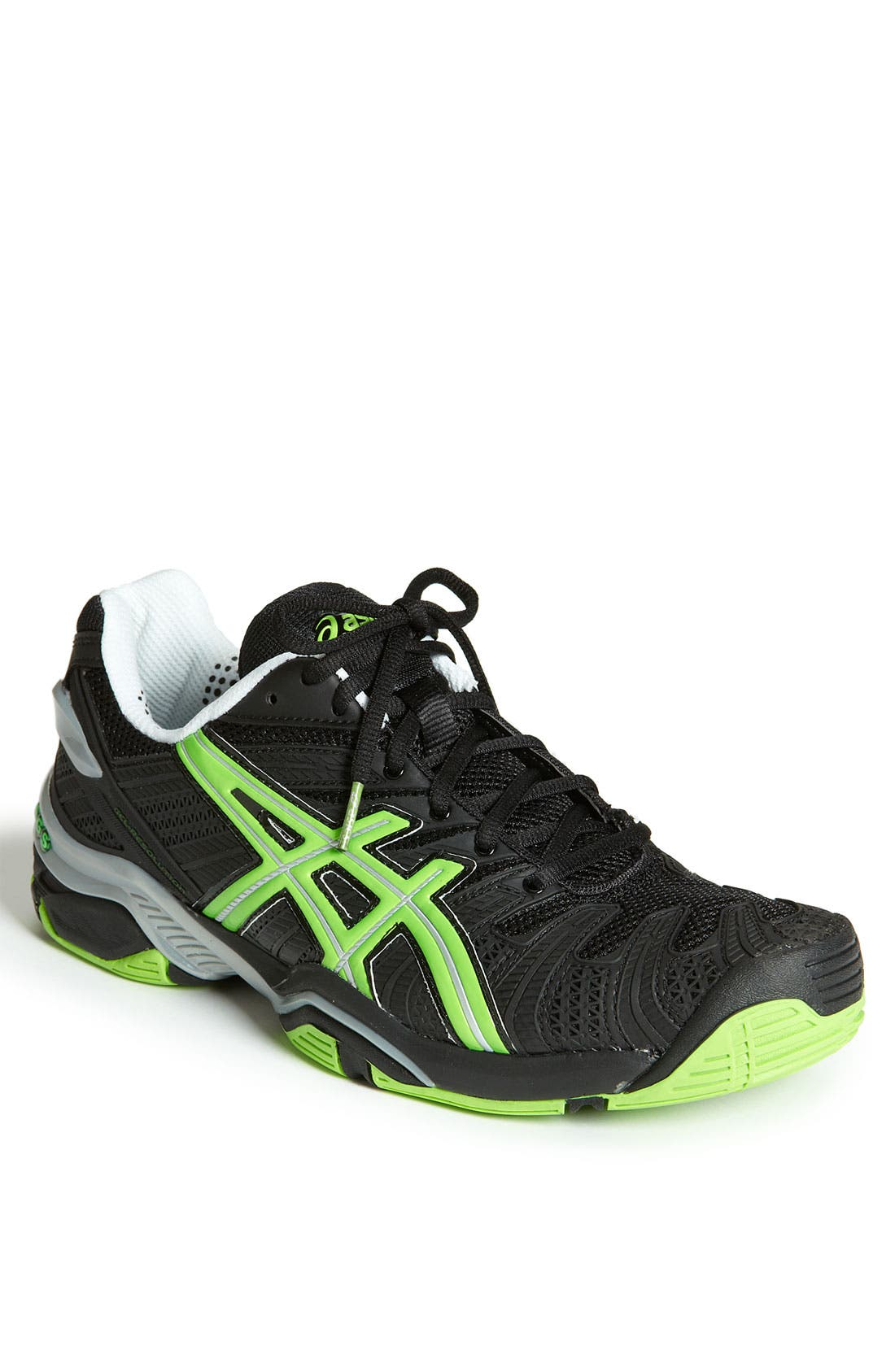ASICS<SUP>®</SUP>,                             'GEL-Resolution 4' Tennis Shoe,                             Main thumbnail 1, color,                             007
