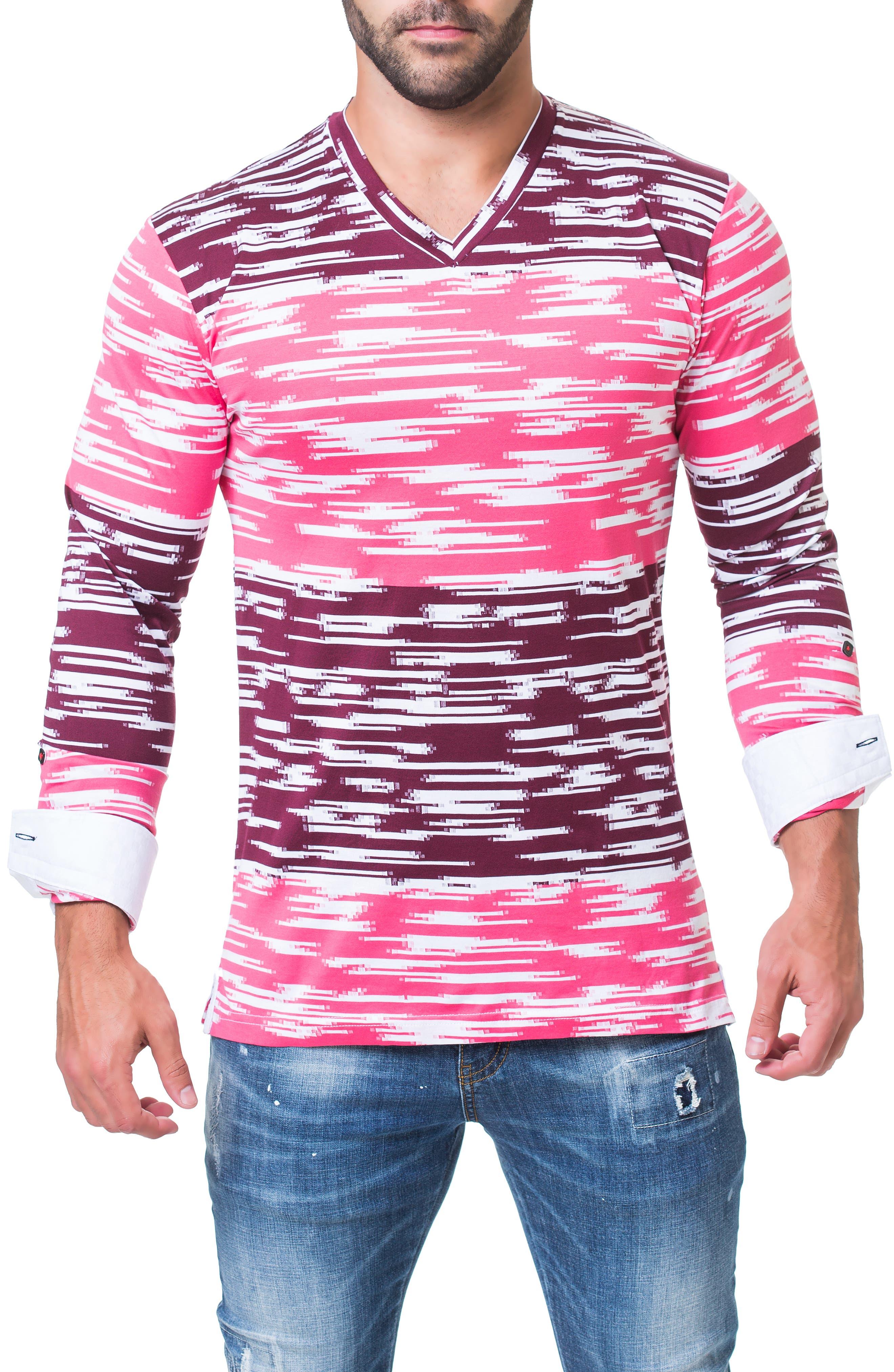 Edison Trim Fit Print T-Shirt,                             Alternate thumbnail 4, color,                             BLACK