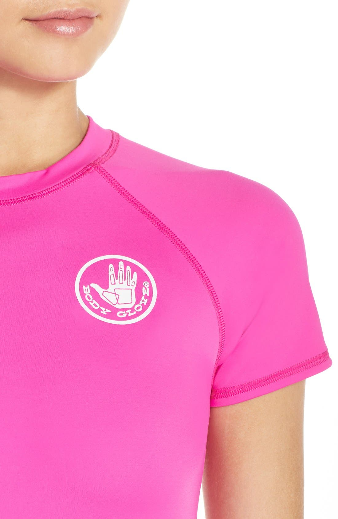 'Smoothies in Motion' Short Sleeve Rashguard,                             Alternate thumbnail 23, color,