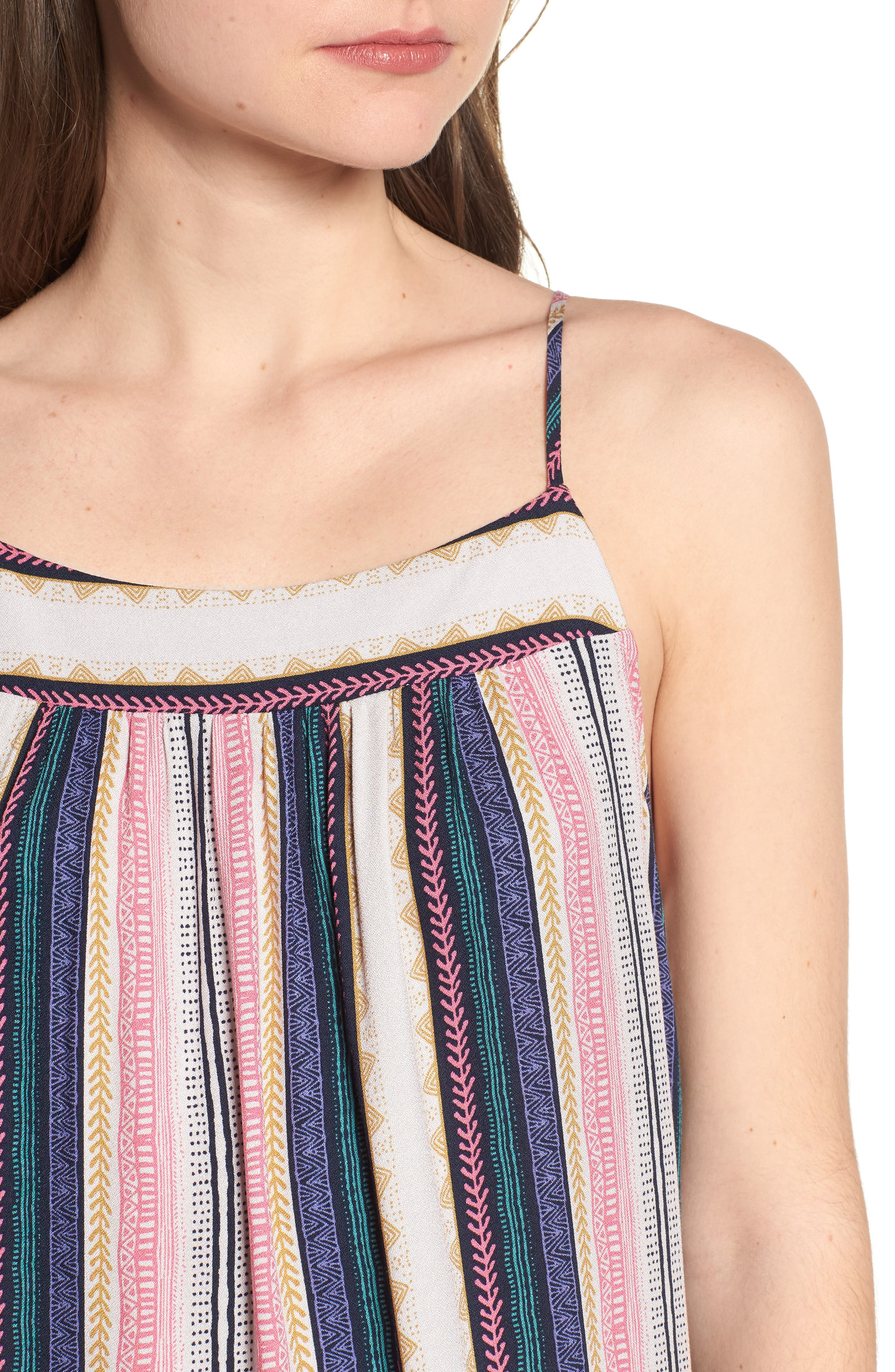 ONE CLOTHING,                             Stripe Maxi Dress,                             Alternate thumbnail 4, color,                             650