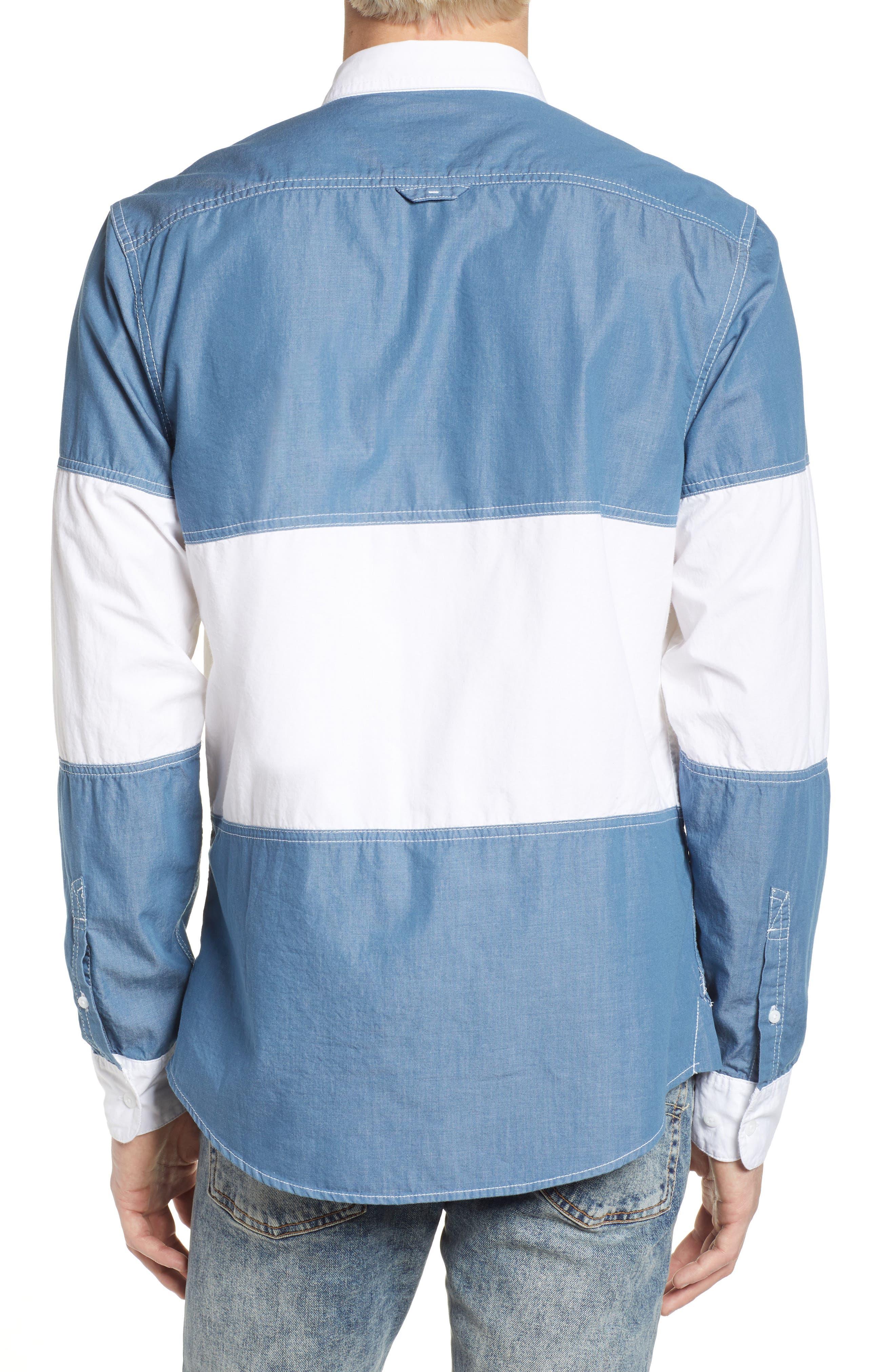 Colorblock Woven Shirt,                             Alternate thumbnail 2, color,