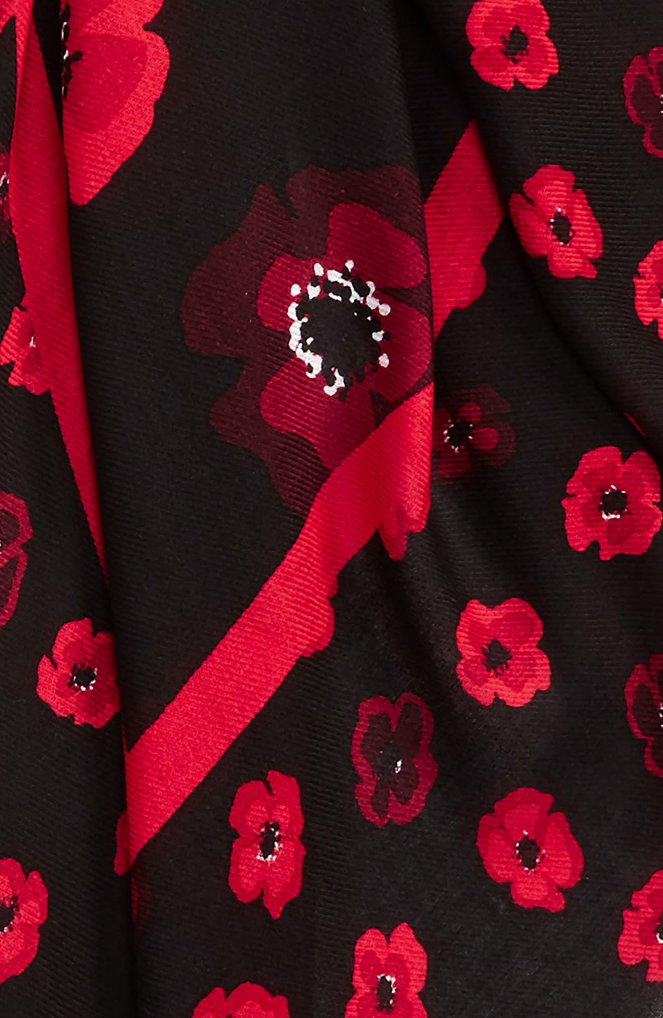 falling poppy scarf,                             Alternate thumbnail 3, color,                             600