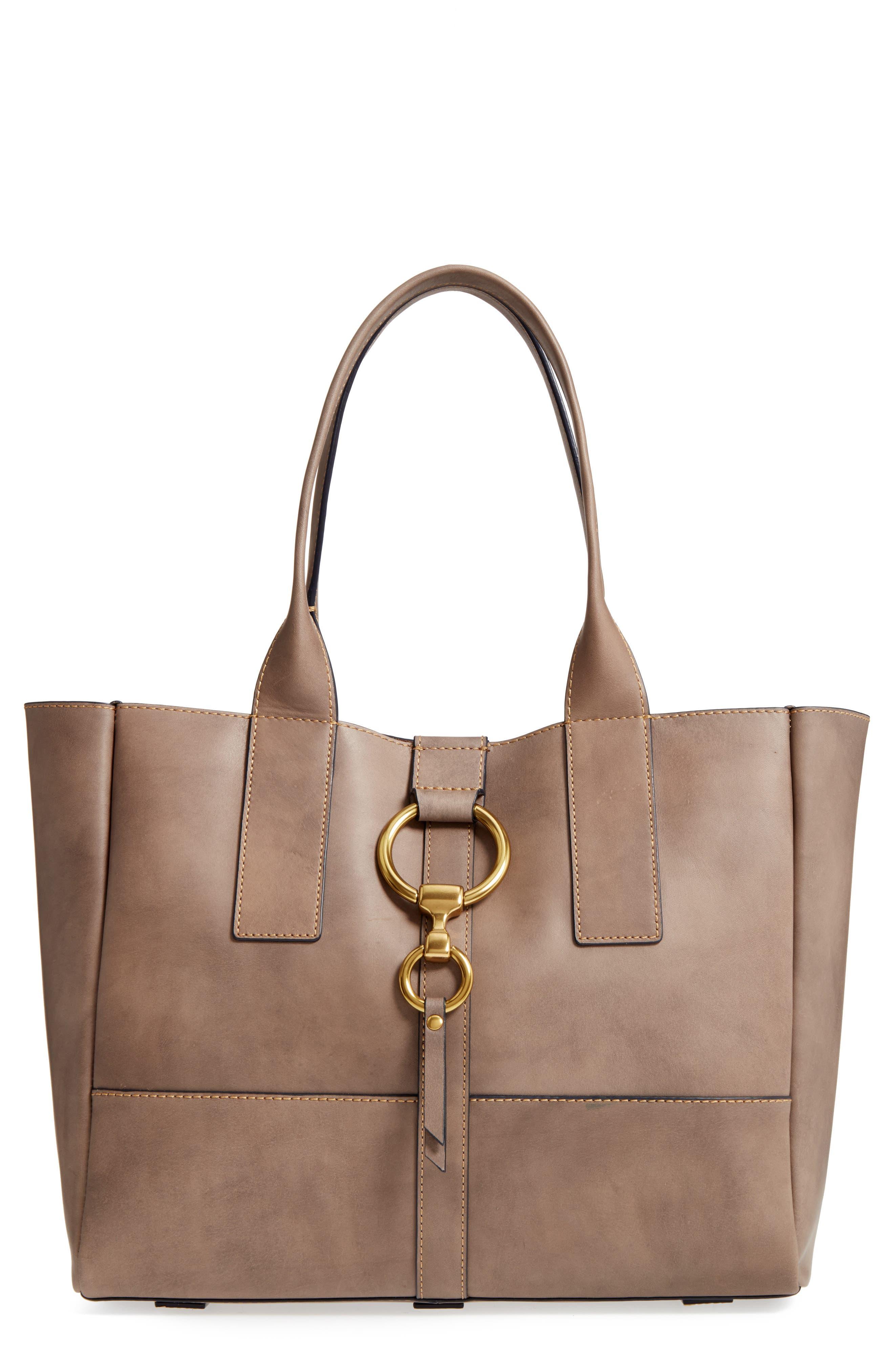 Ilana Harness Leather Shopper,                             Main thumbnail 1, color,                             030