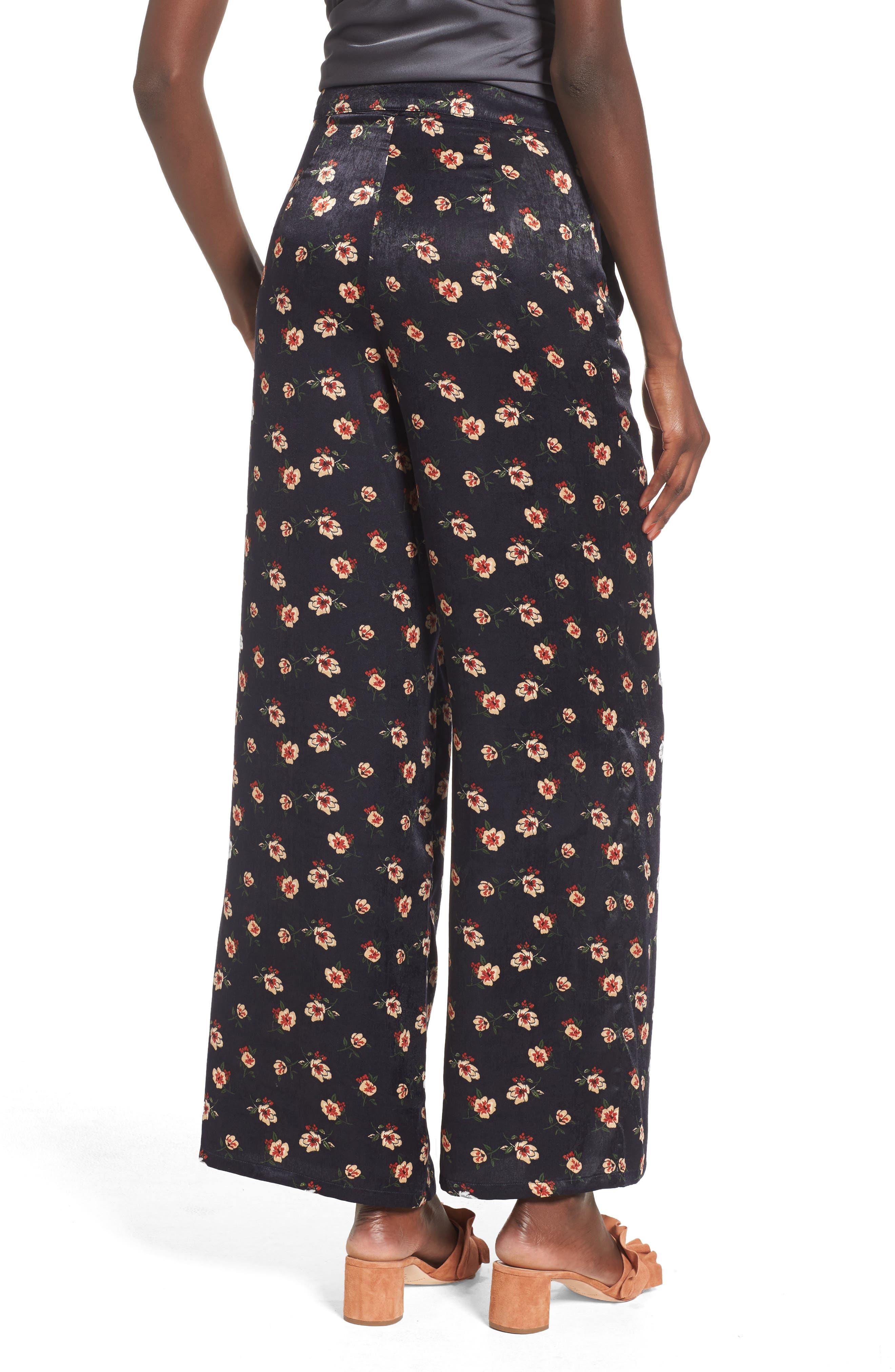 Floral Wide Leg Pants,                             Alternate thumbnail 2, color,                             498