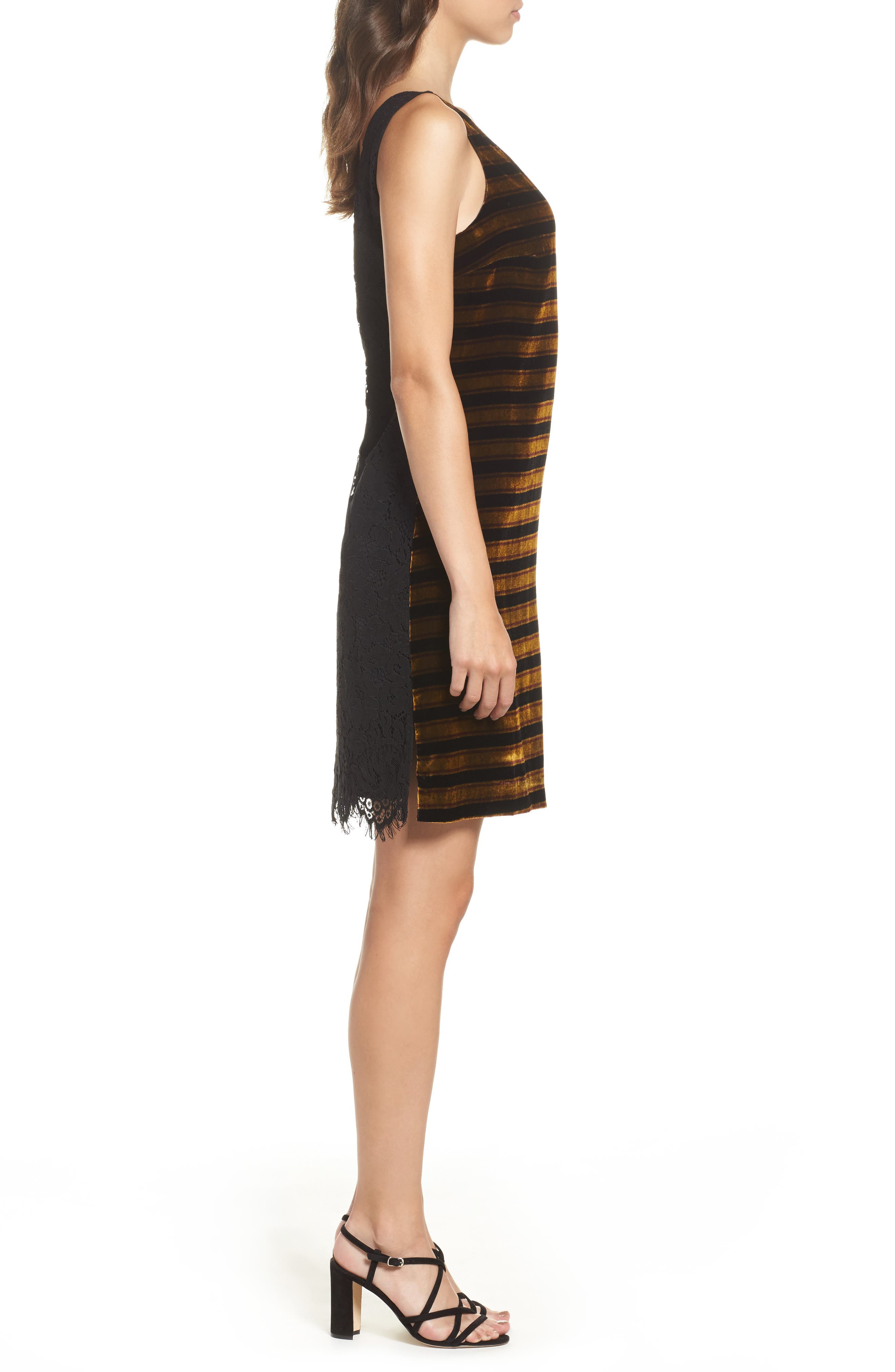 Emma Stripe Dress,                             Alternate thumbnail 3, color,                             015