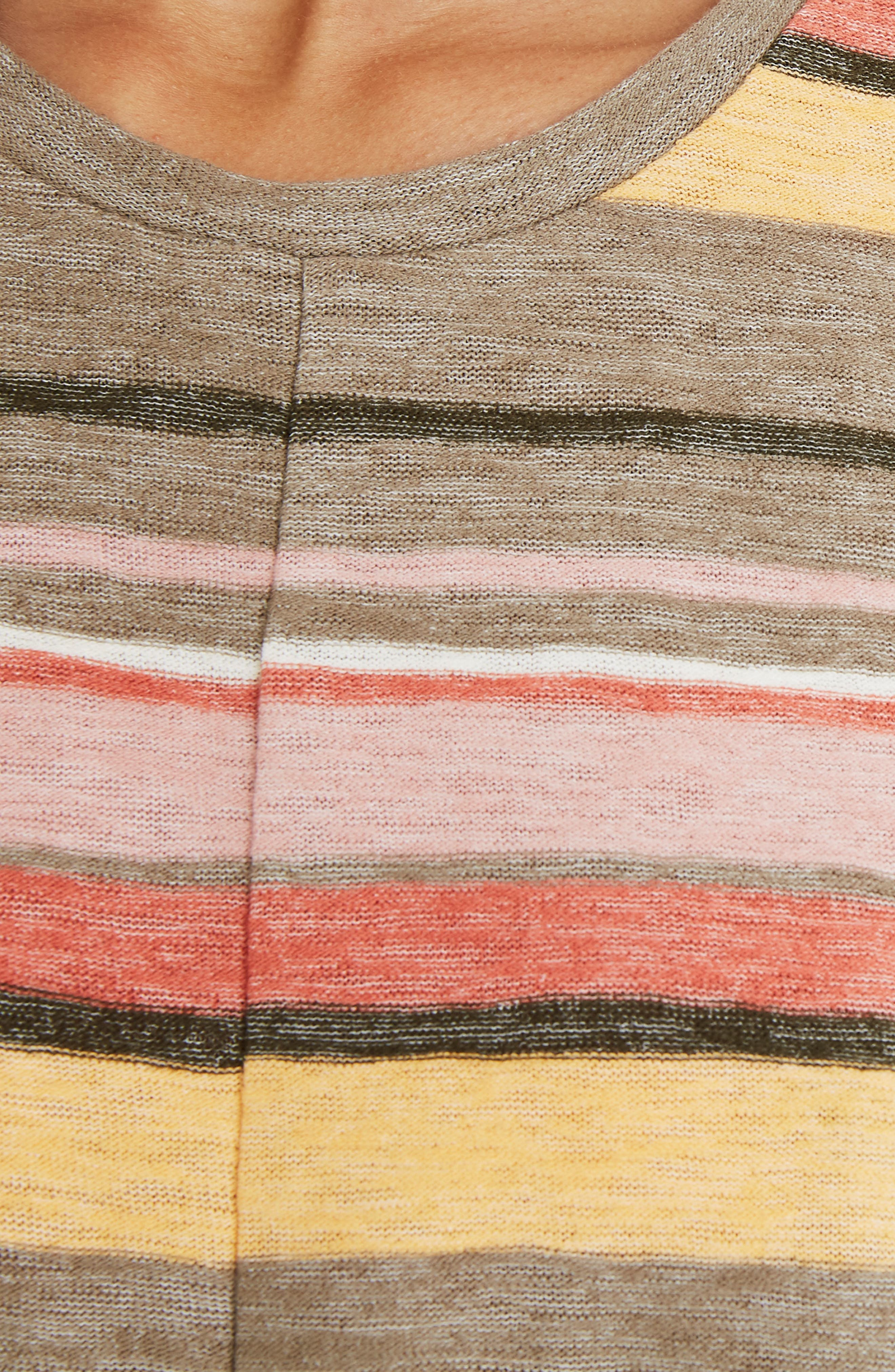 Texture & Thread Modern Tie-Front Top,                             Alternate thumbnail 3, color,                             BRITISH SURPLUS