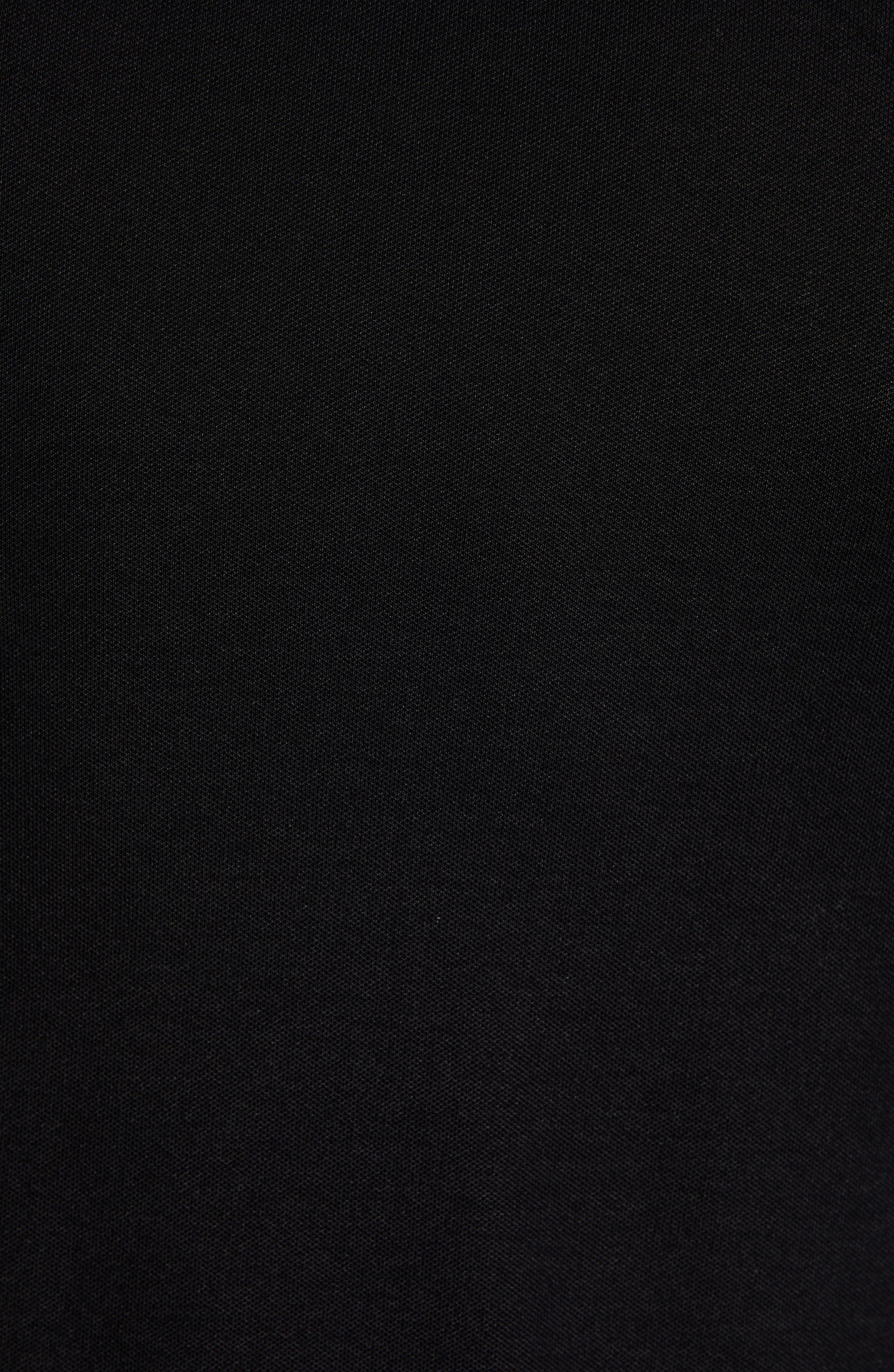Paule Slim Fit Polo,                             Alternate thumbnail 5, color,                             BLACK
