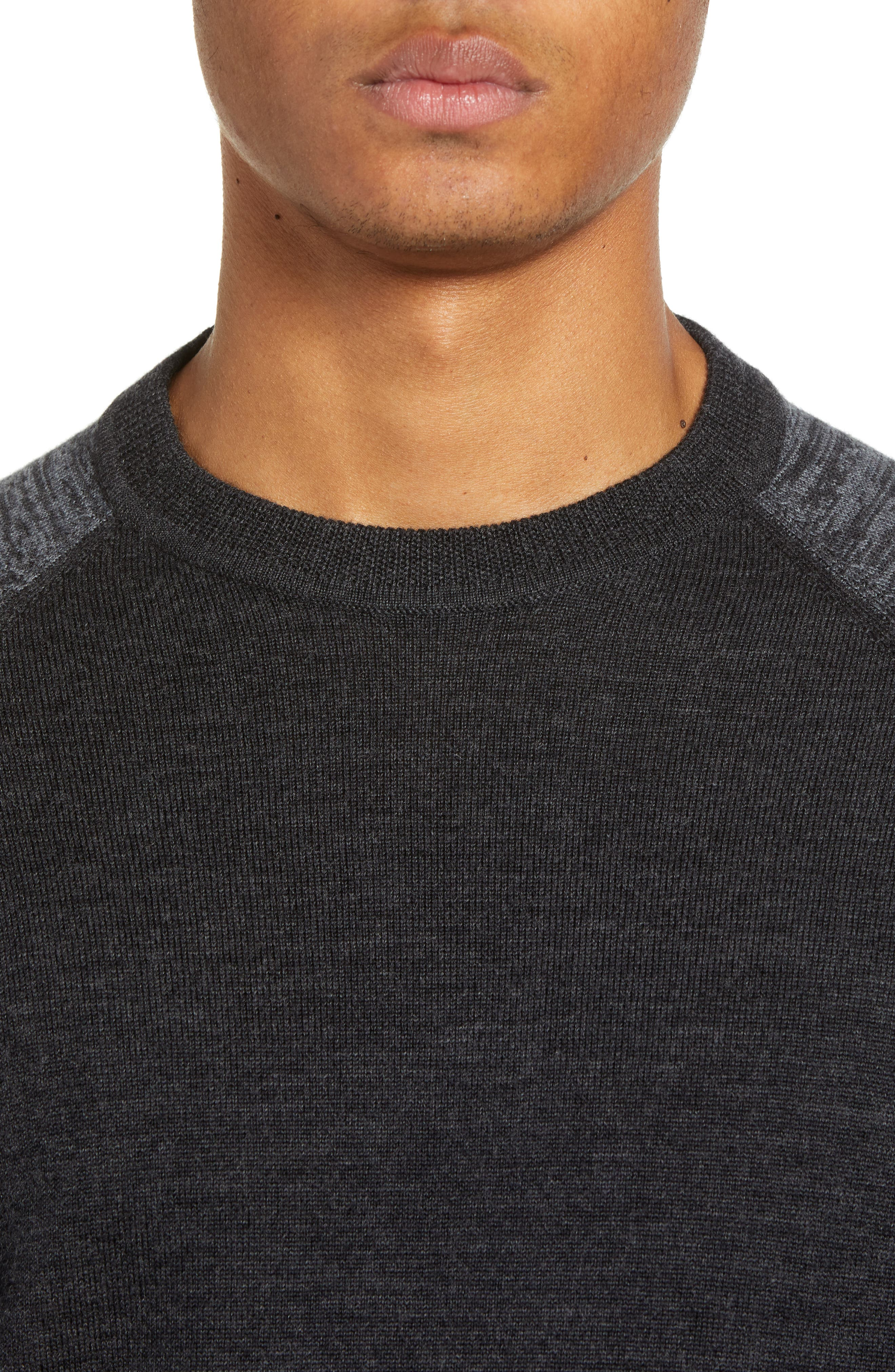 Cornfed Slim Fit Sweater,                             Alternate thumbnail 4, color,                             CHARCOAL
