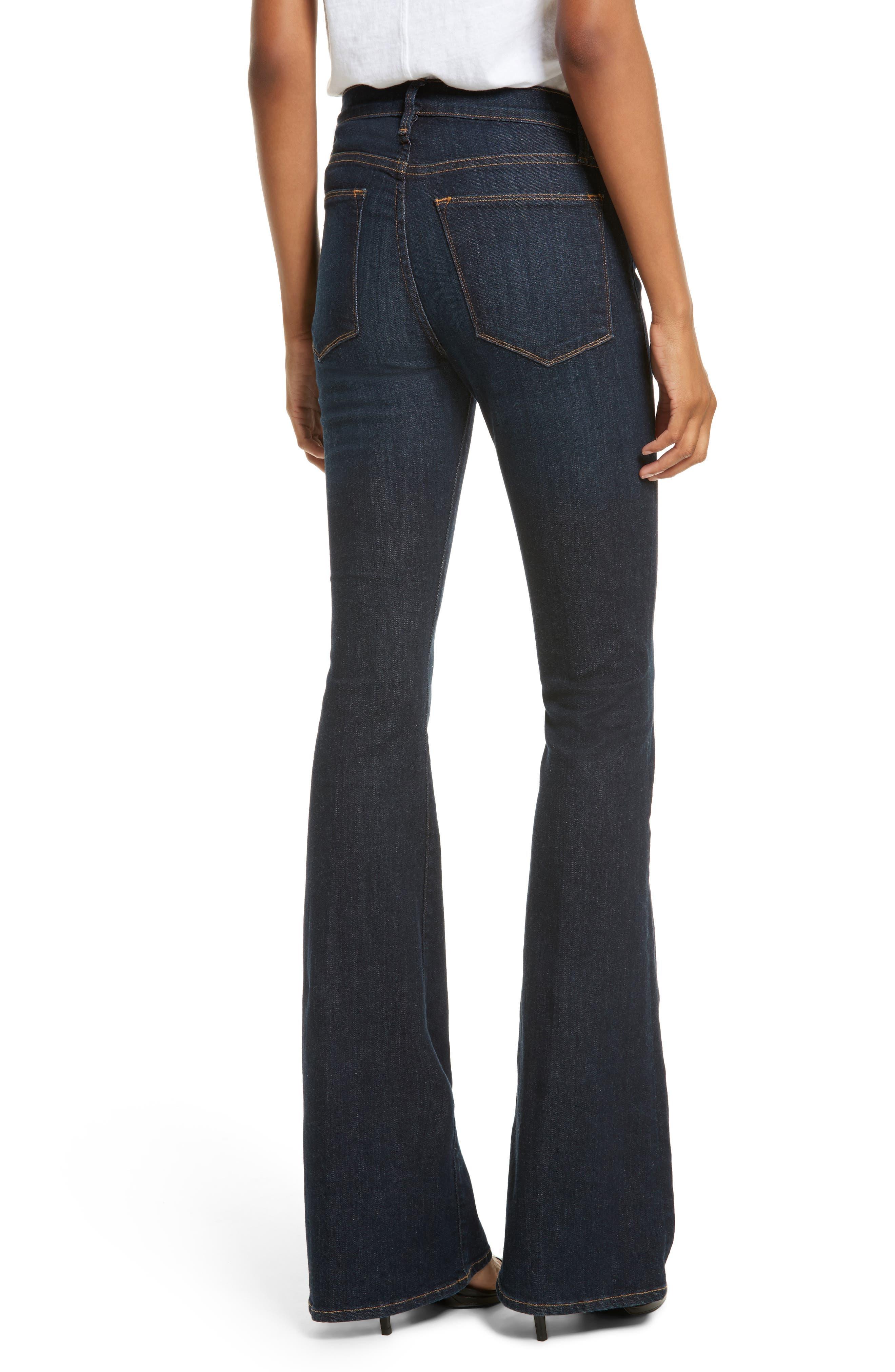 'Le High Flare' Jeans,                             Alternate thumbnail 2, color,                             401