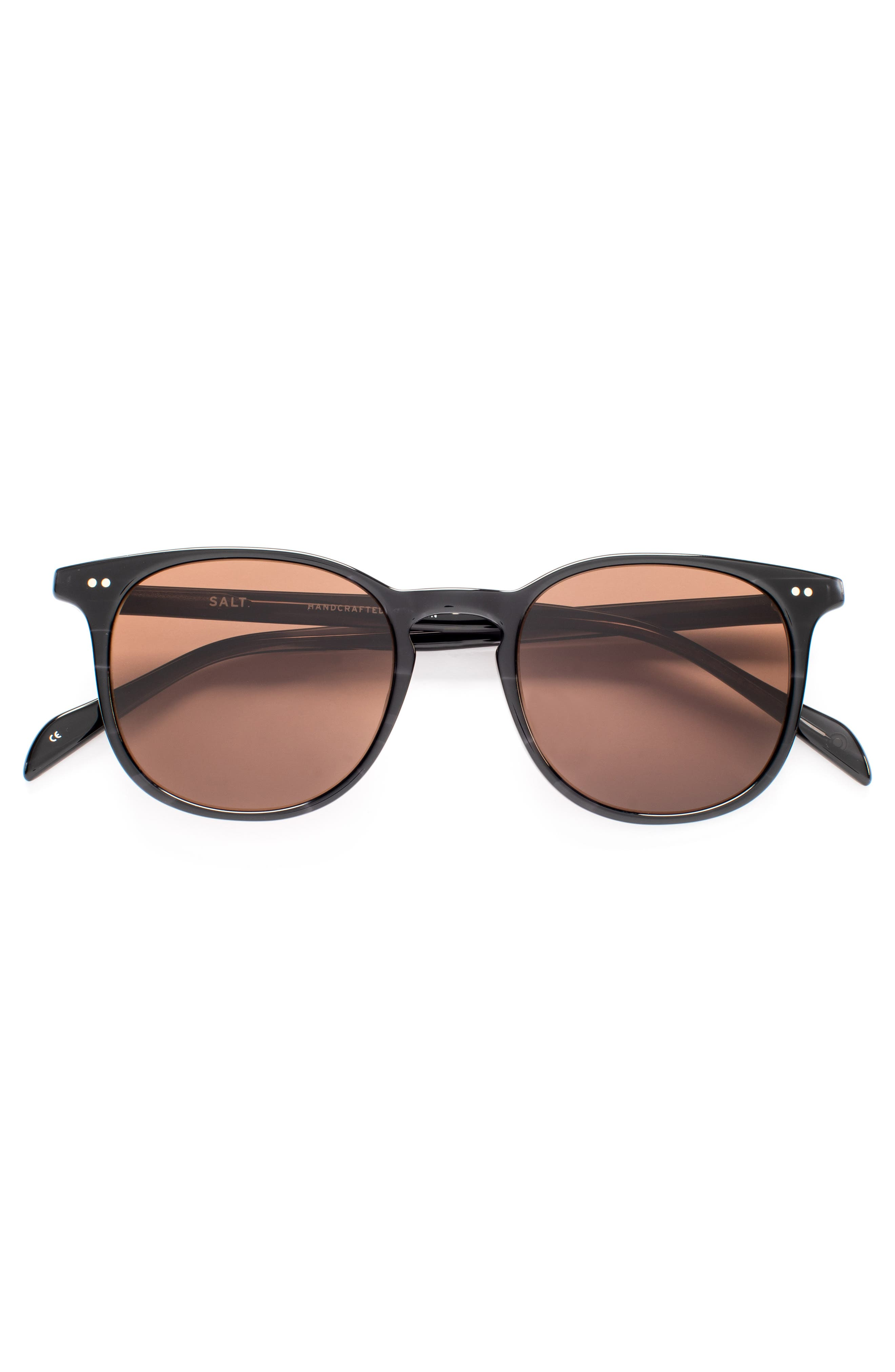Trevor 49mm Polarized Sunglasses,                             Alternate thumbnail 2, color,                             BLACK
