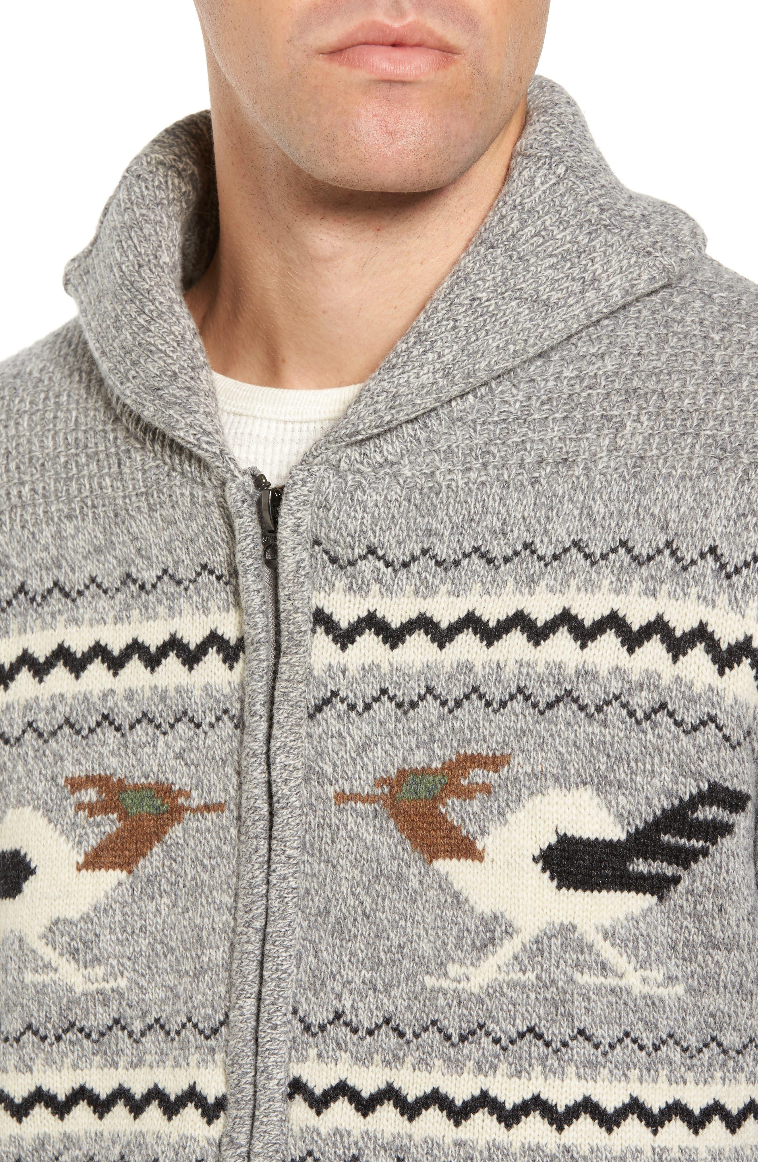 Road Runner Wool Blend Cardigan,                             Alternate thumbnail 4, color,                             050