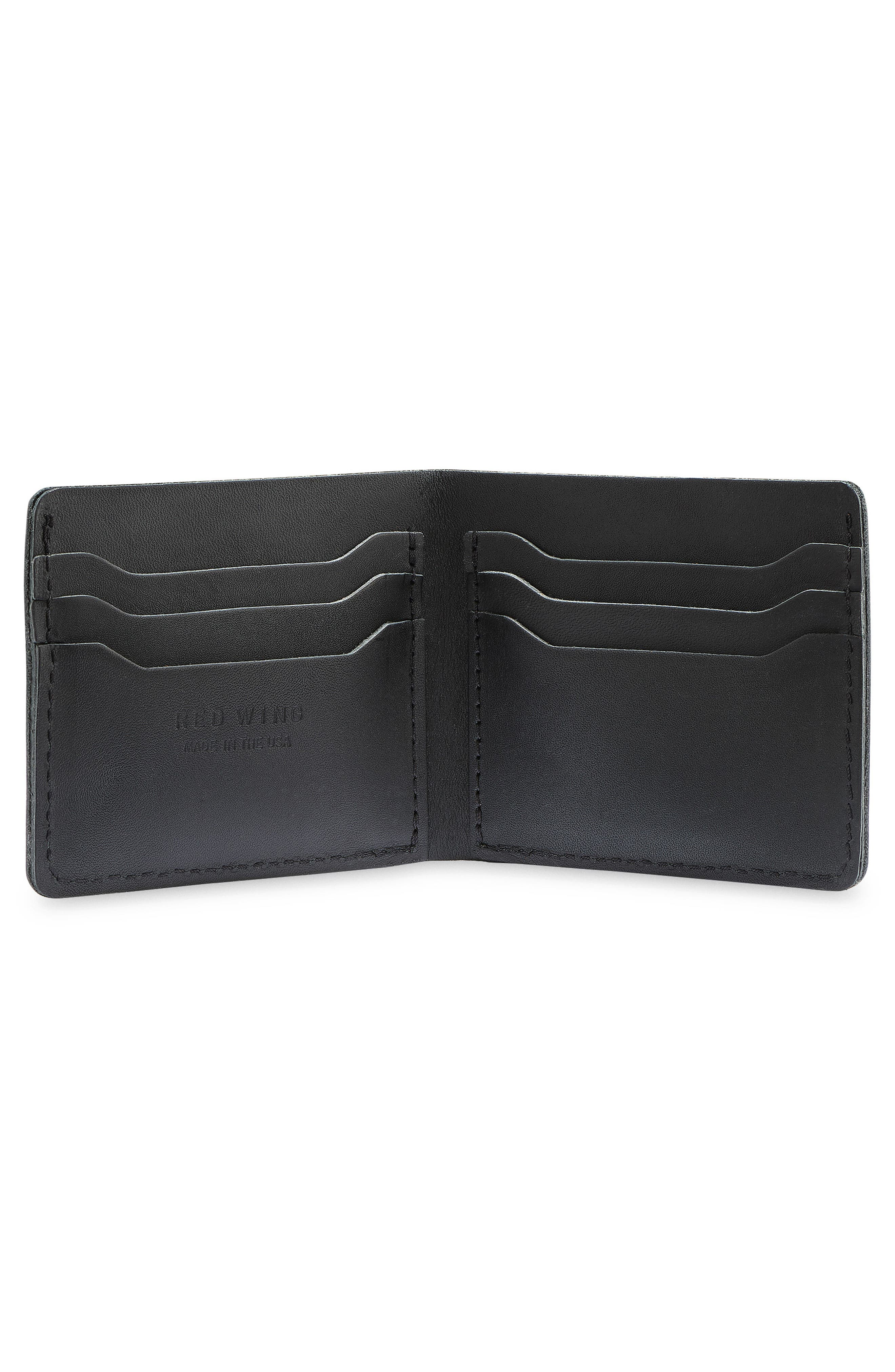 Classic Bifold Leather Wallet,                             Alternate thumbnail 2, color,                             BLACK