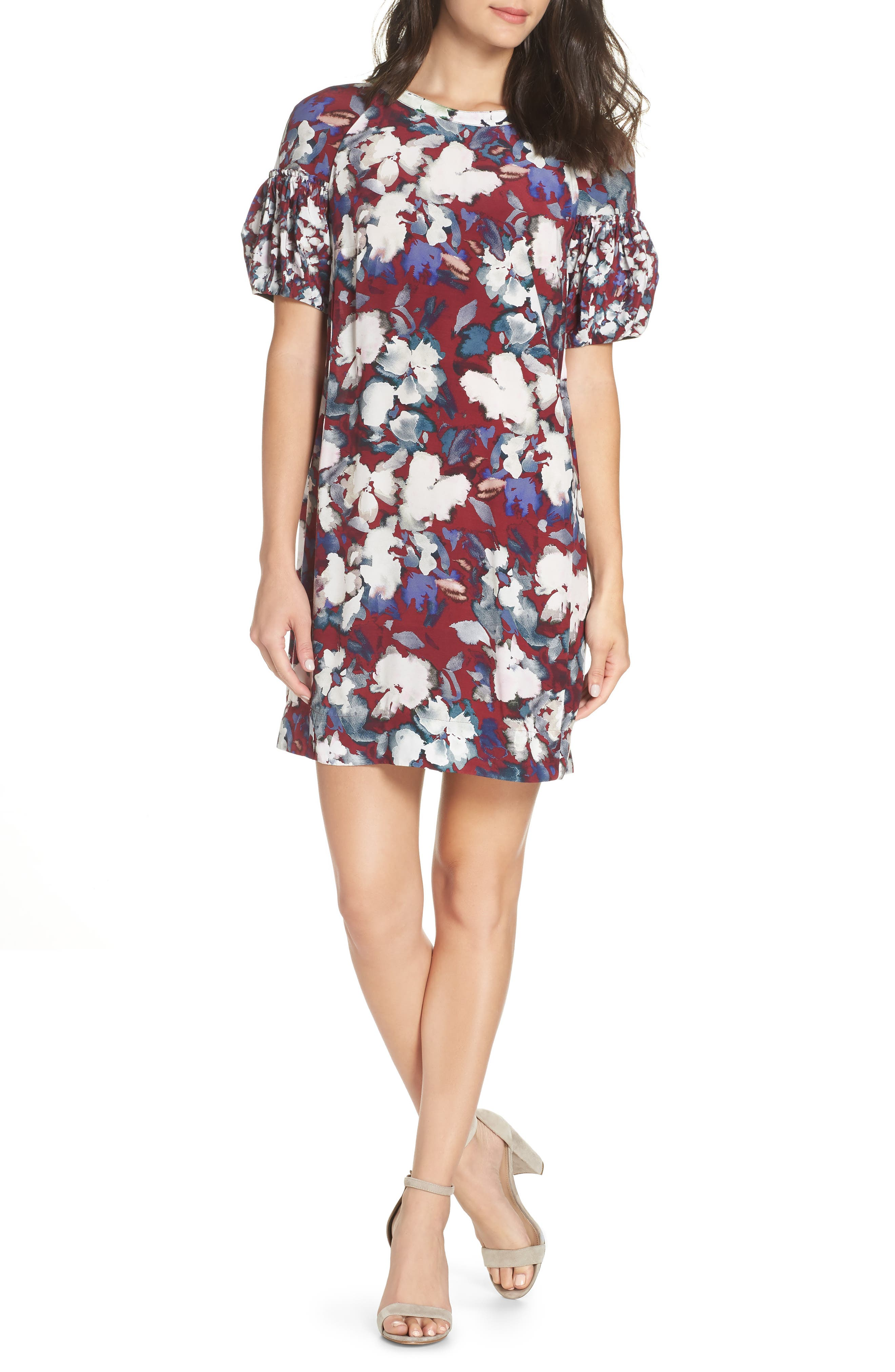French Connection Dreda Shift Dress, Red