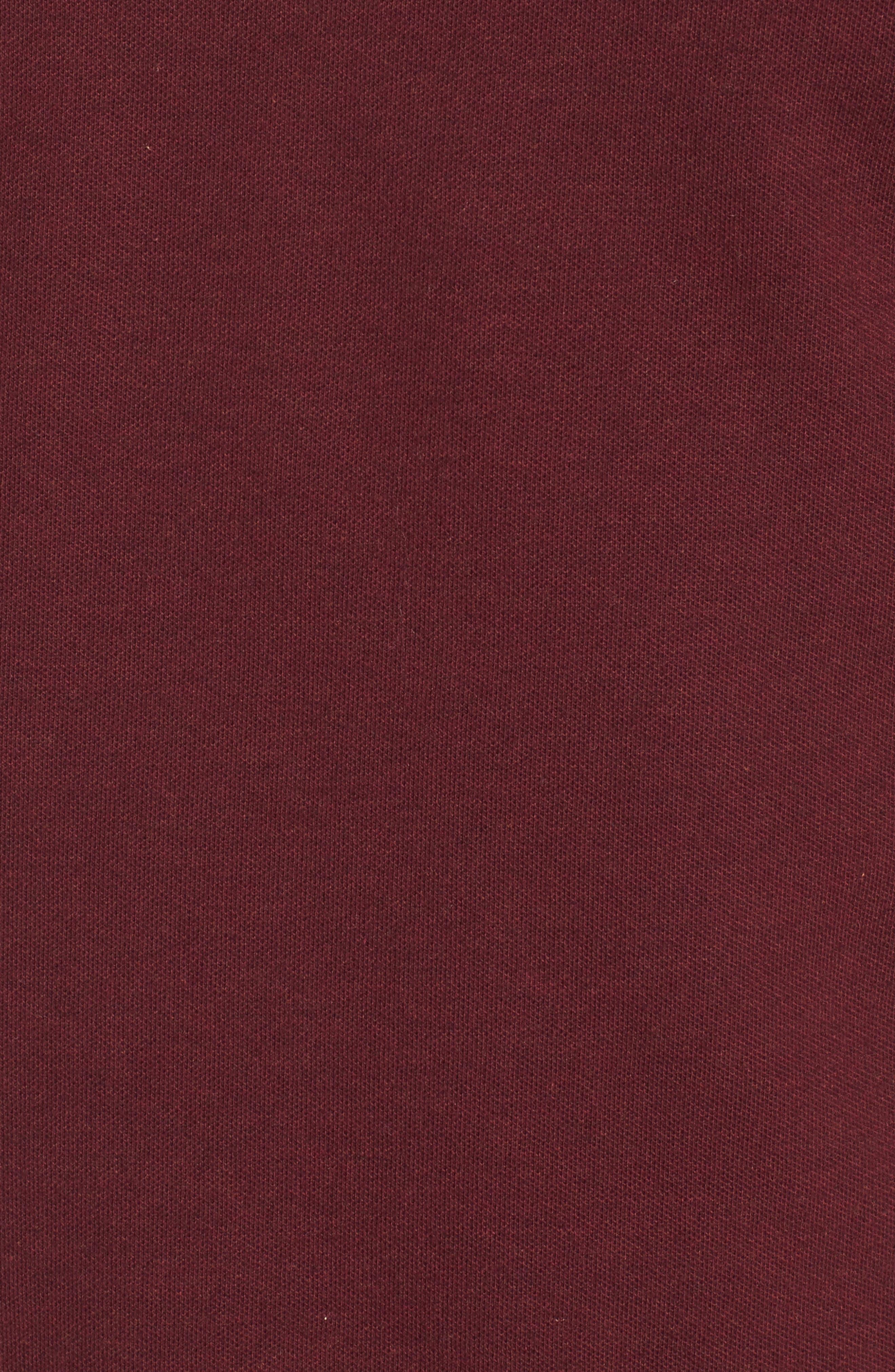 Regular Fit Piqué Polo,                             Alternate thumbnail 5, color,                             CRIMSON