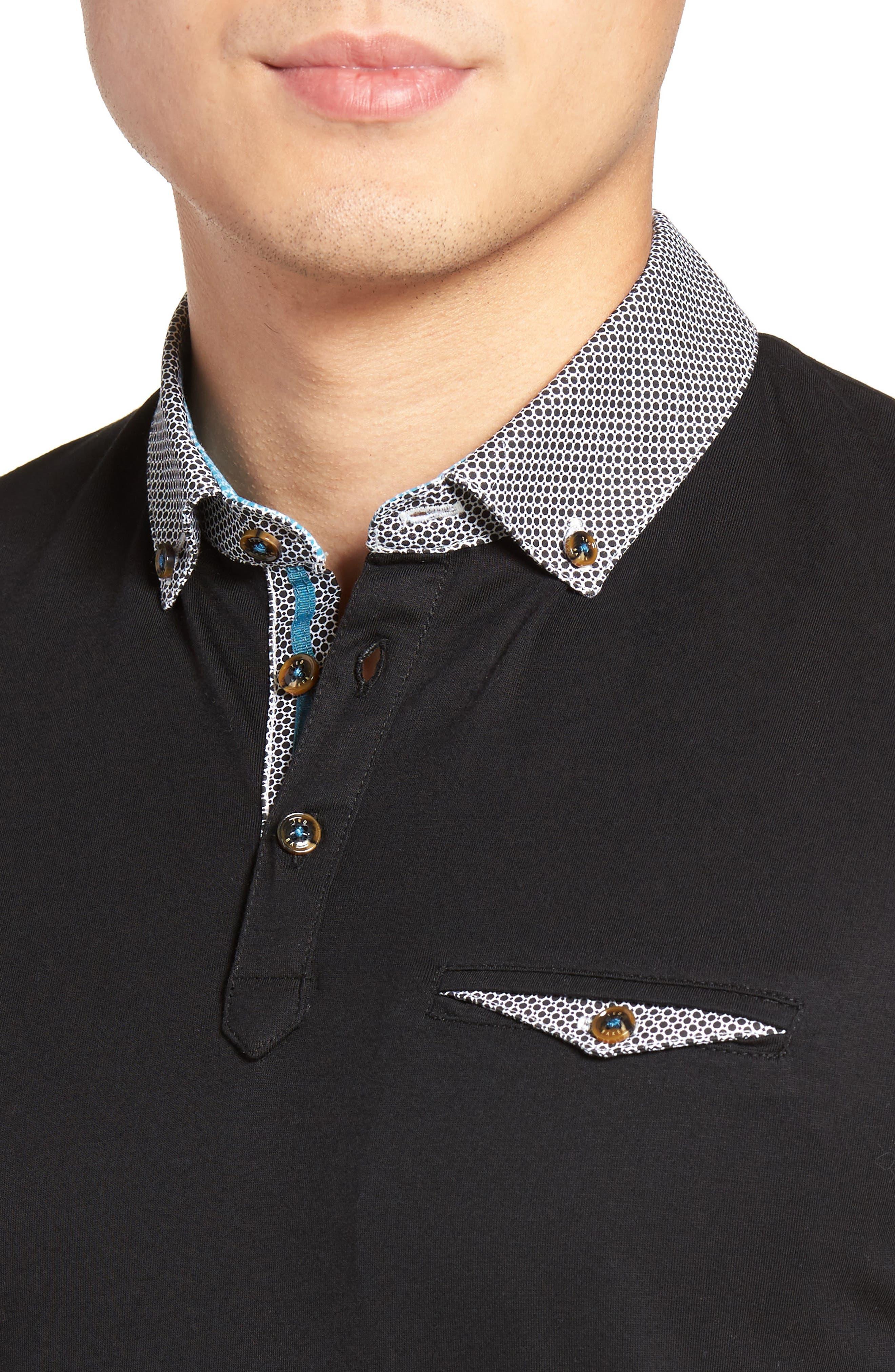 Woven Collar Polo,                             Alternate thumbnail 15, color,