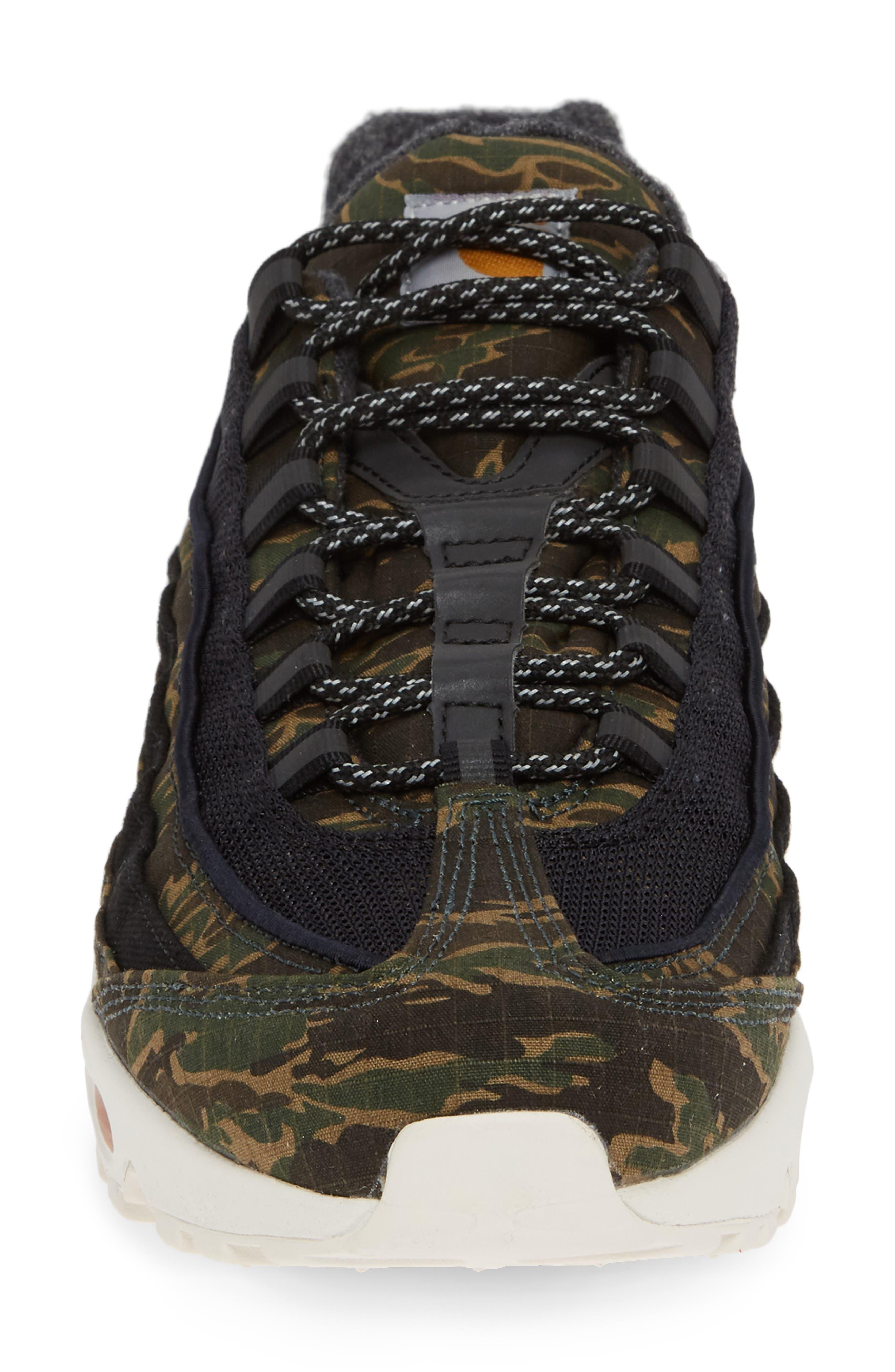 NIKE,                             x Carhartt Air Max 95 WIP Sneaker,                             Alternate thumbnail 4, color,                             001