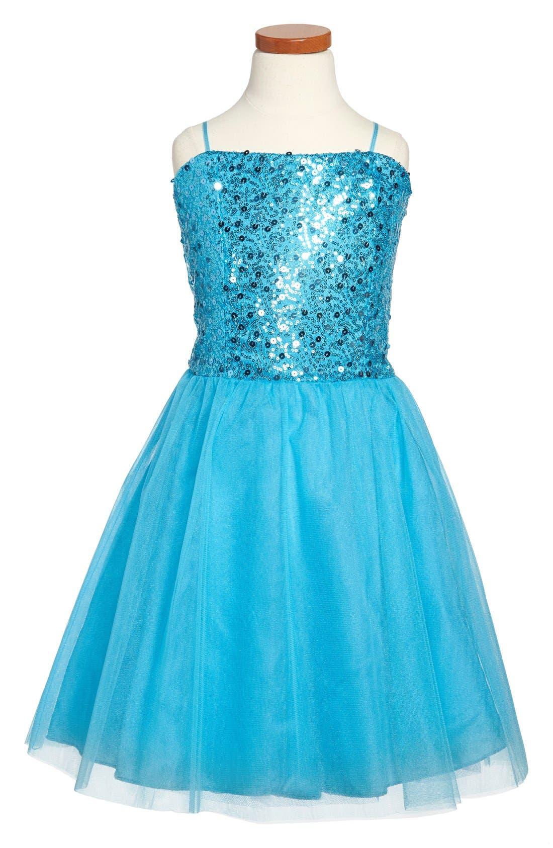 Sequin Party Dress,                             Main thumbnail 2, color,